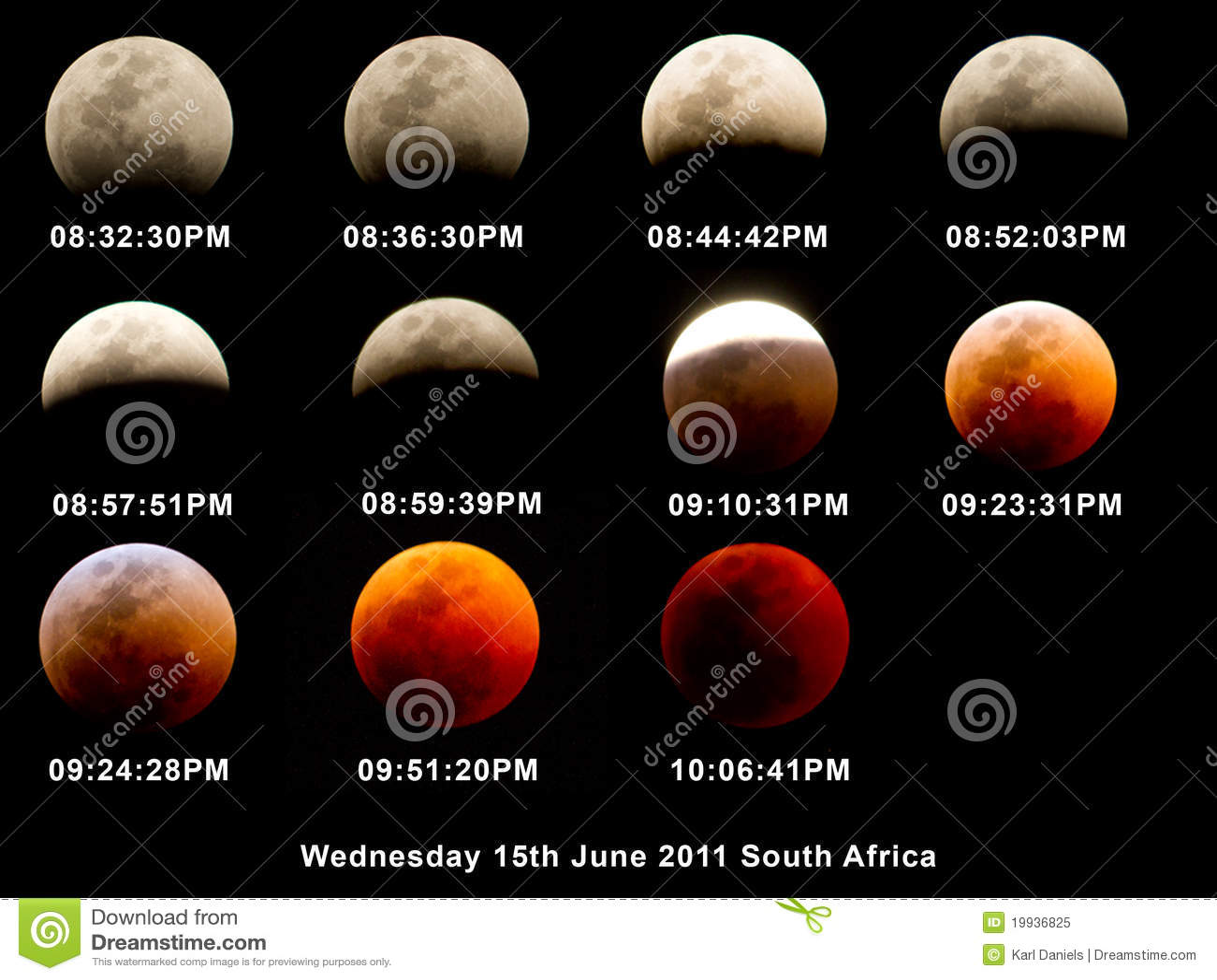Mapy zaćmienia księżycowe sceny