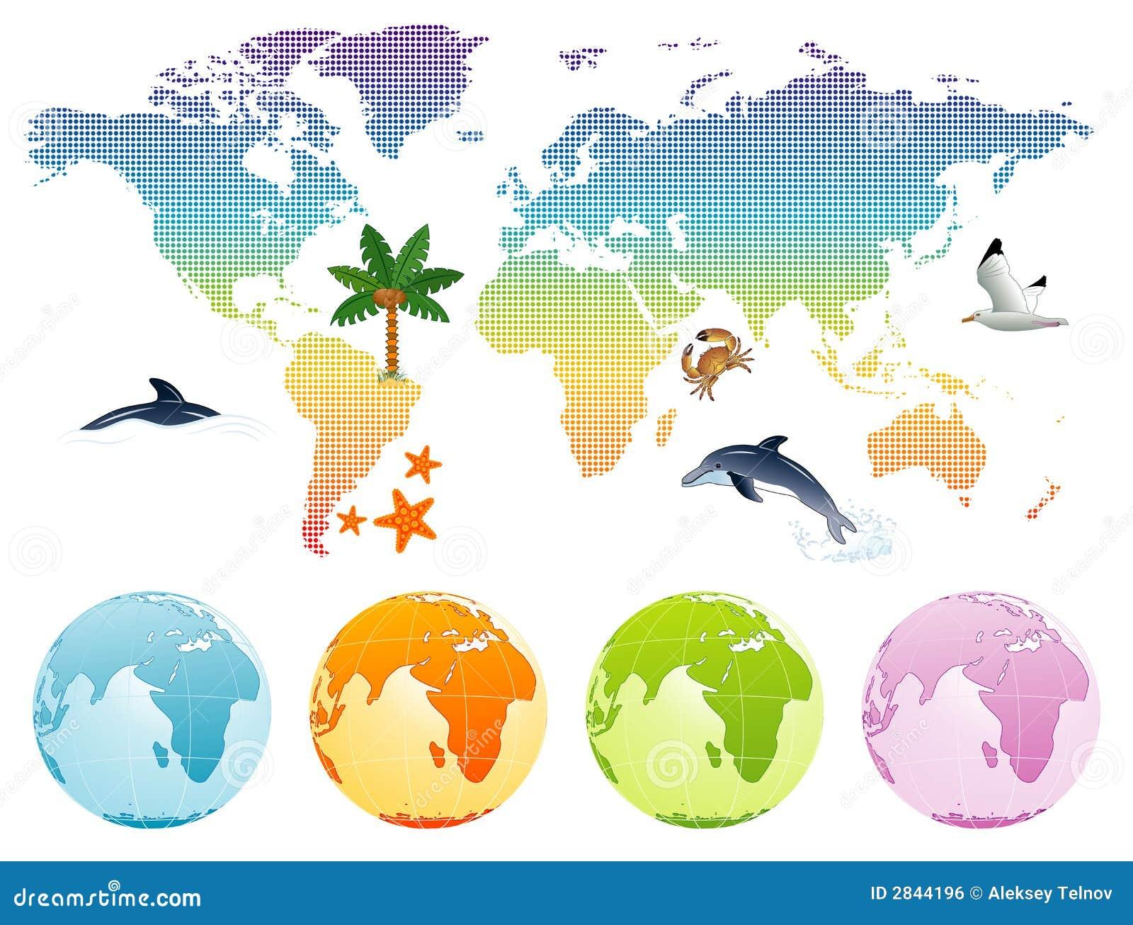 Mapy ziemi rainbow