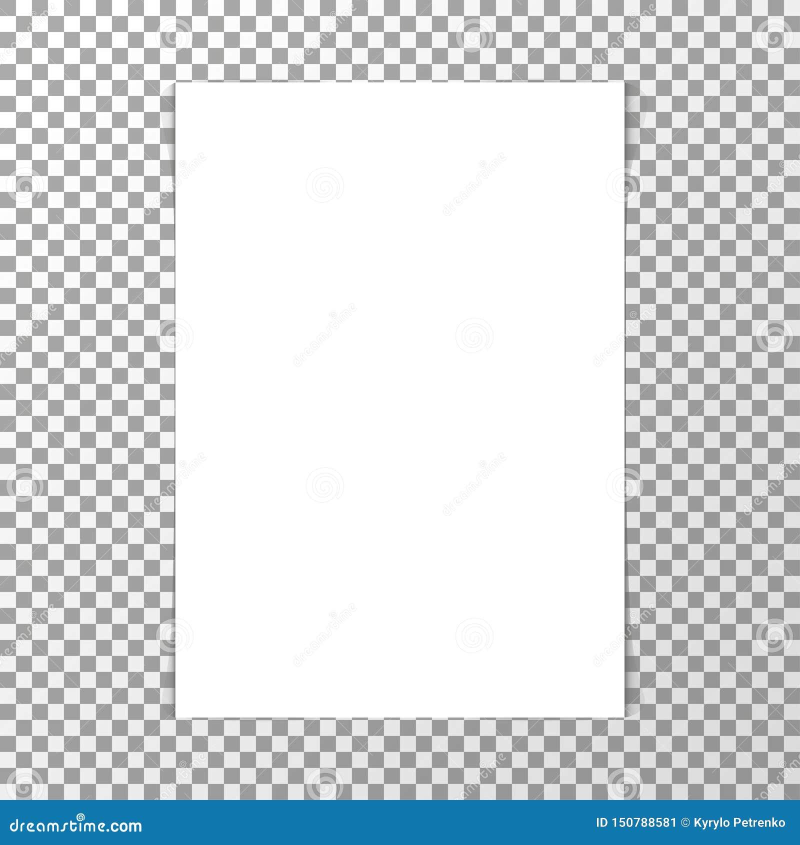Maqueta blanca realista de la hoja de papel del espacio en blanco