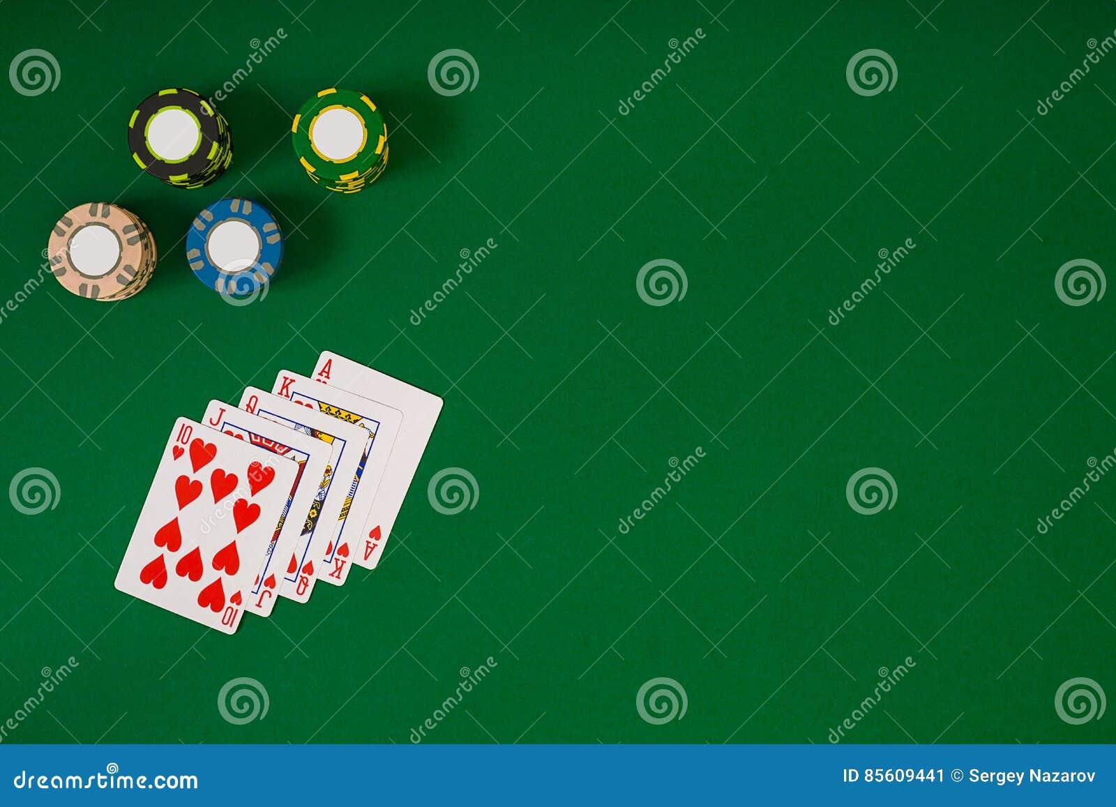 Maqueta de la disposición de la plantilla de la bandera para el casino en línea Tabla verde, opinión superior sobre lugar de trab
