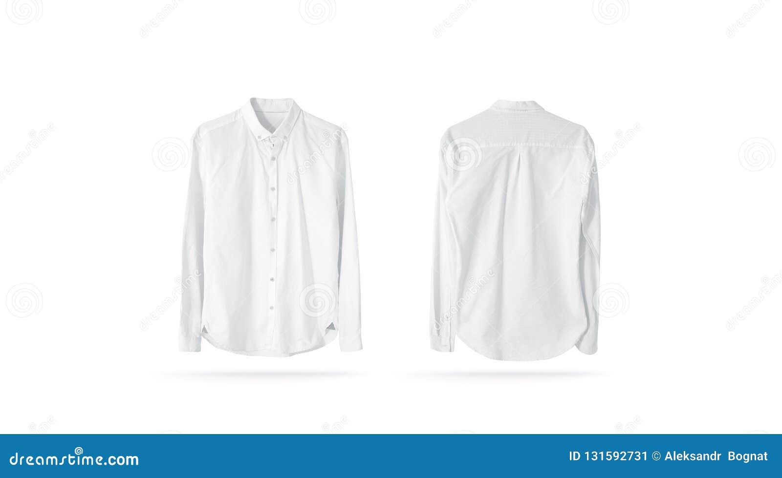 8be1ae4d89f Maqueta para hombre clásica blanca de la camisa del espacio en blanco