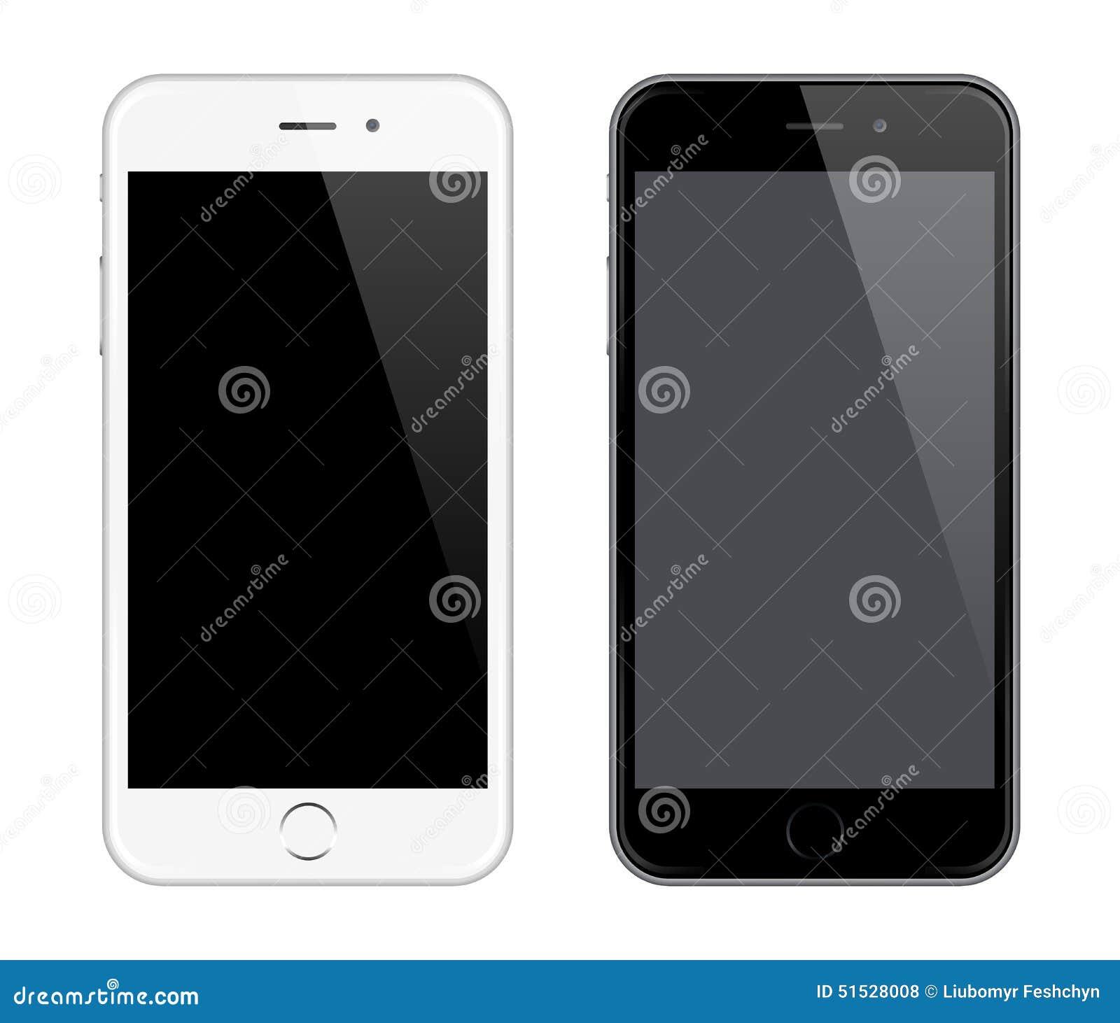 Maqueta realista del teléfono móvil del vector como estilo del diseño de Iphone