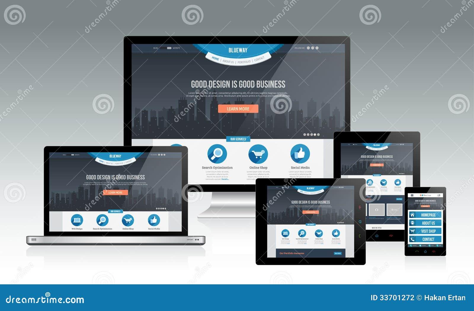 Maqueta responsiva del Web