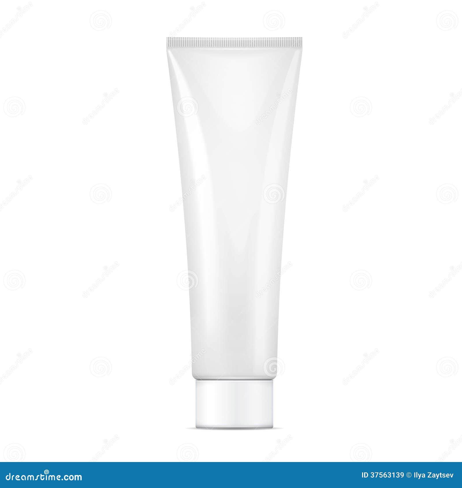 Maquette crème blanche de tube.