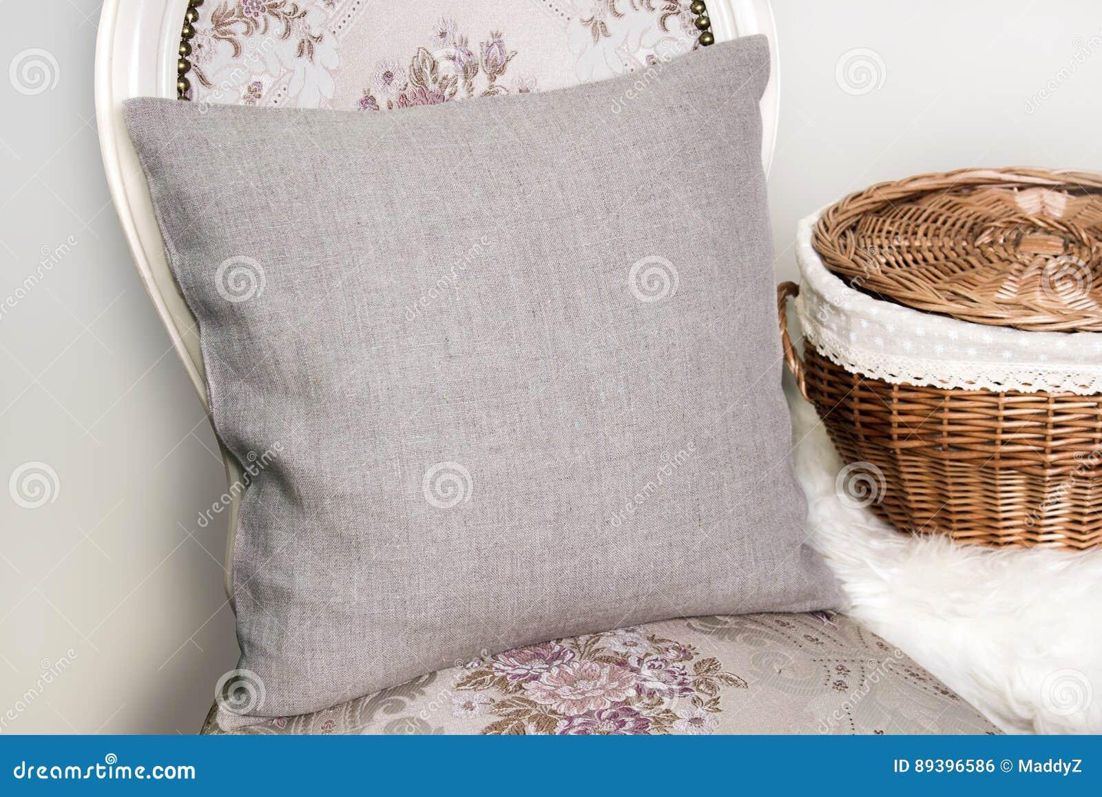 Maquette de caisse de coussin d oreiller de toile