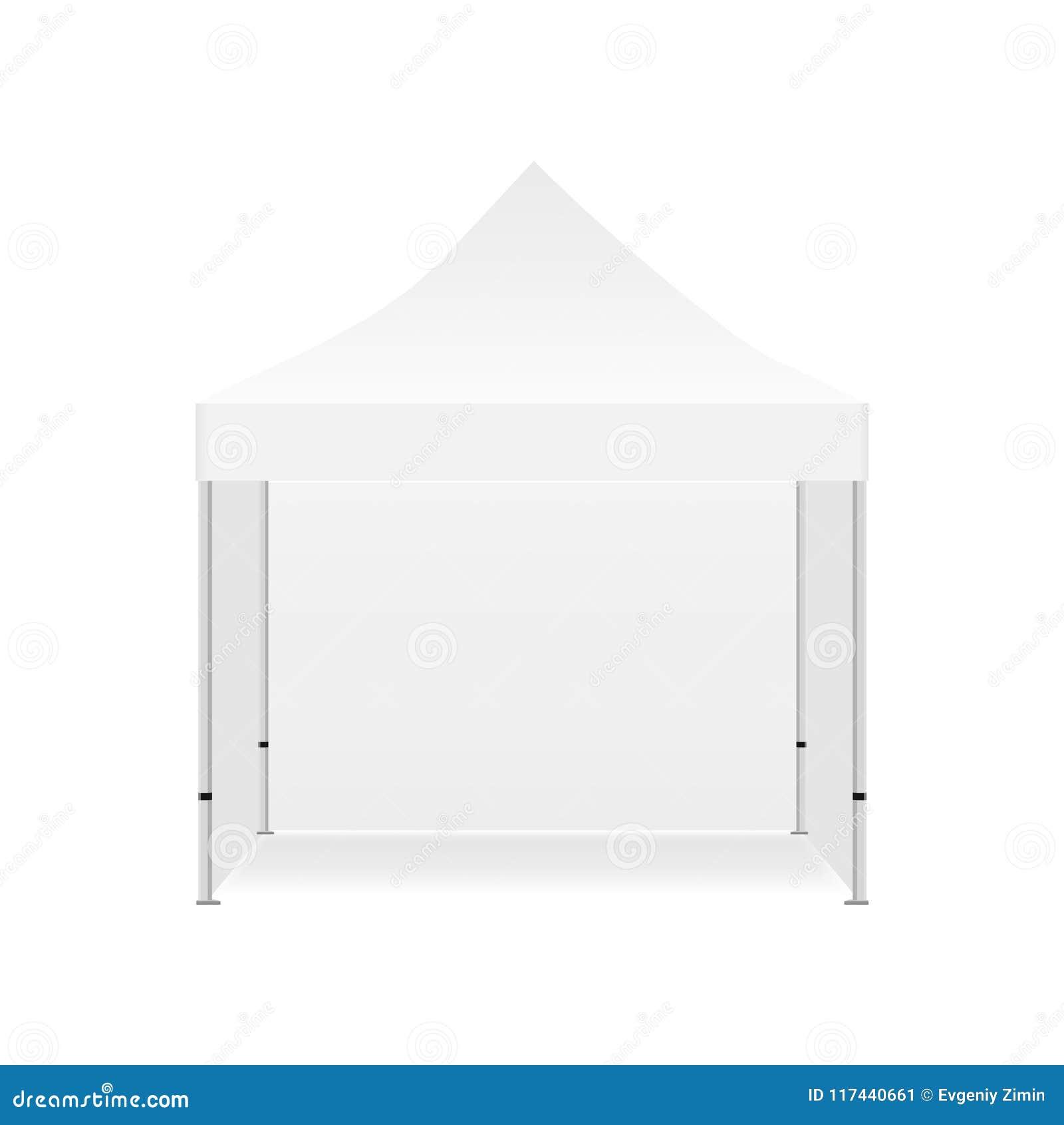 Maquette promotionnelle extérieure vide de tente avec trois murs