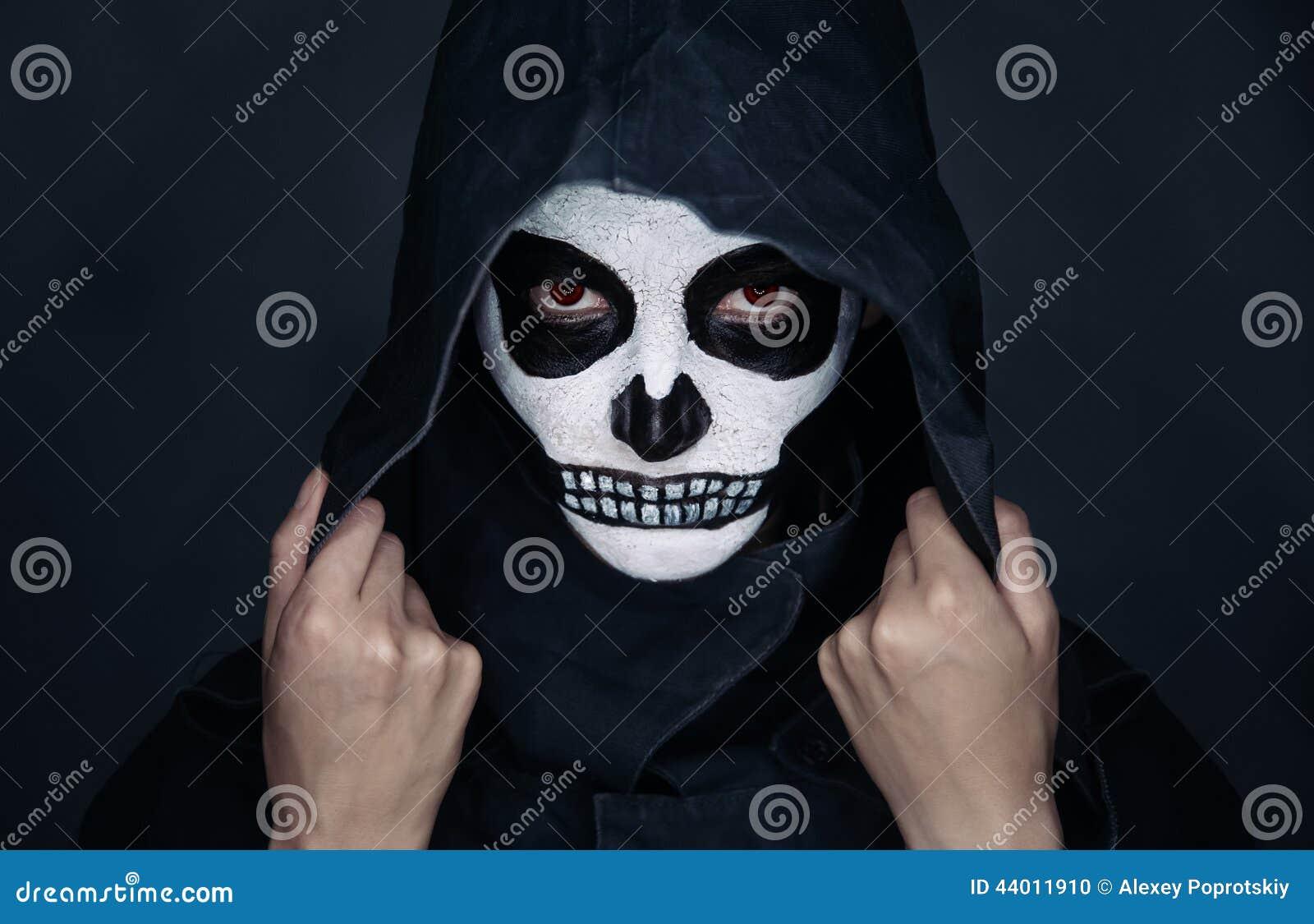 Maquillage de crâne de Halloween