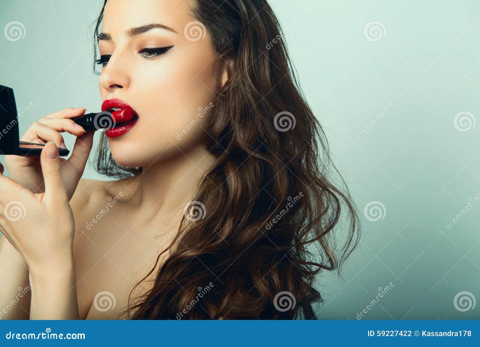 Download Maquillaje foto de archivo. Imagen de mirada, mordedura - 59227422