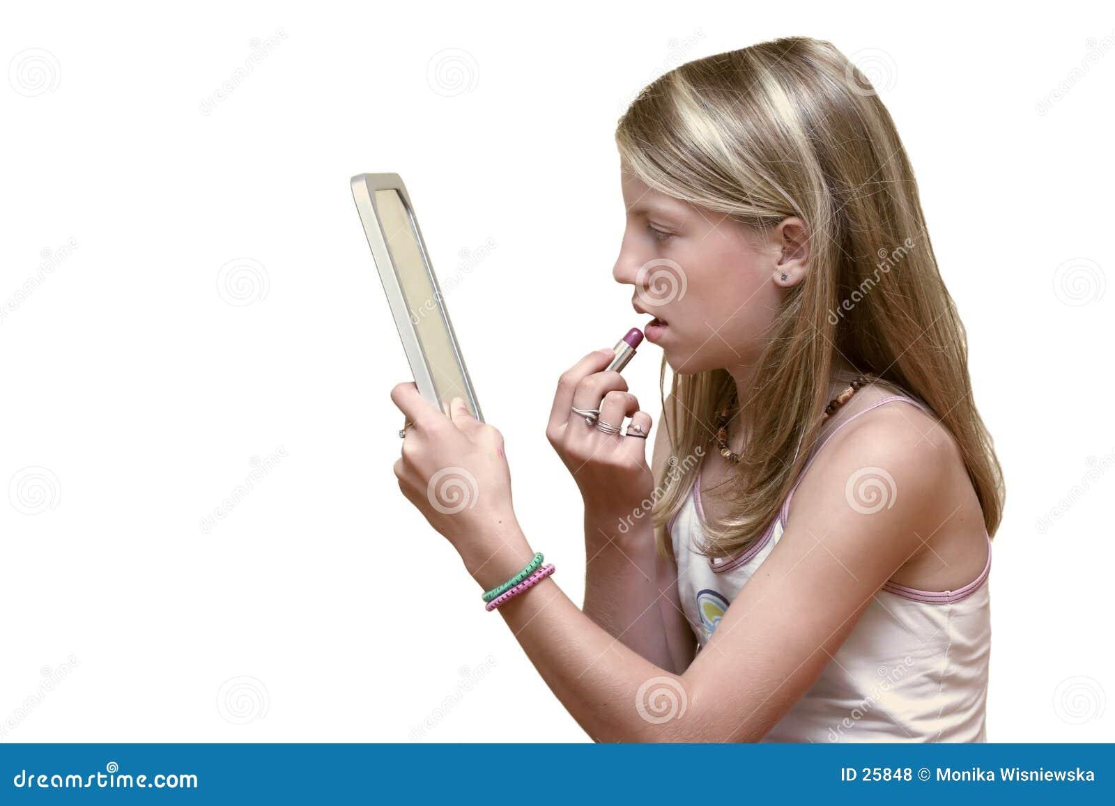 Download Maquillaje adolescente foto de archivo. Imagen de ropas - 25848