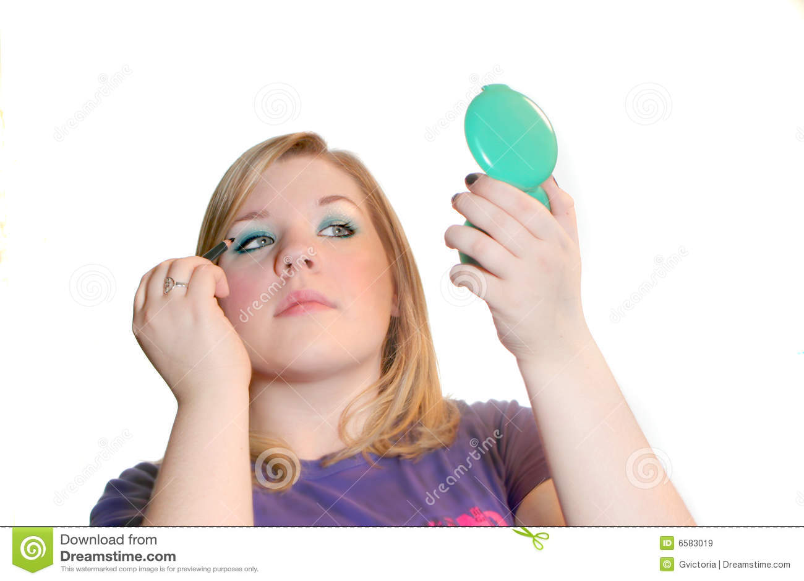 Maquillaje de aplicación adolescente