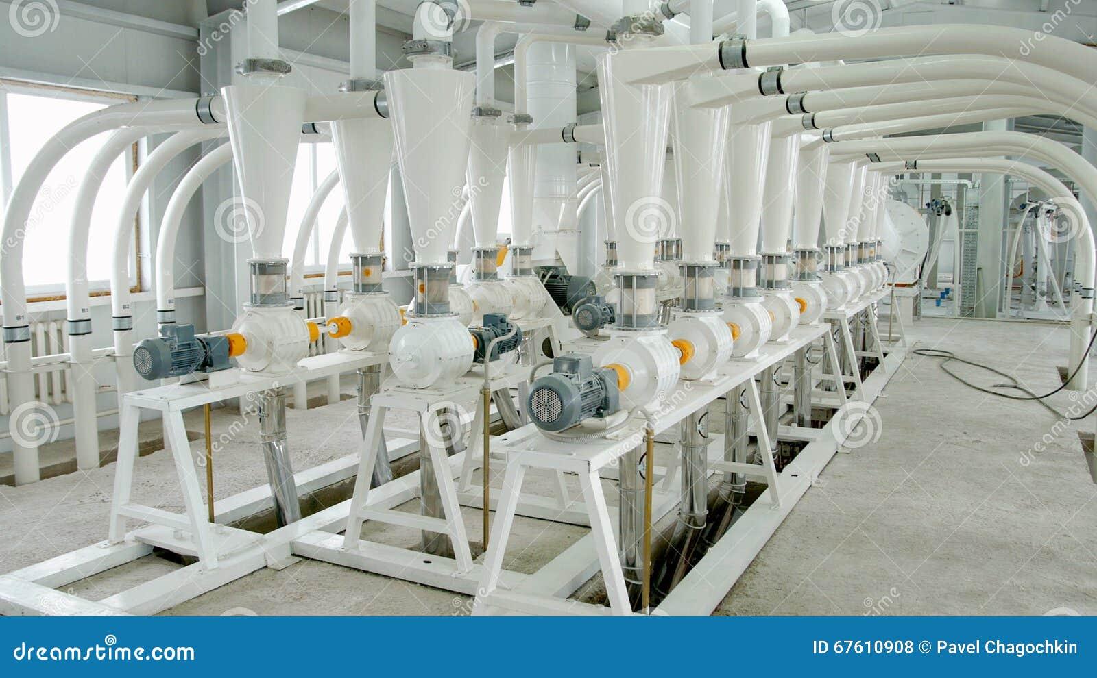 Maquinaria el ctrica del molino para la producci n de - Molino de trigo ...