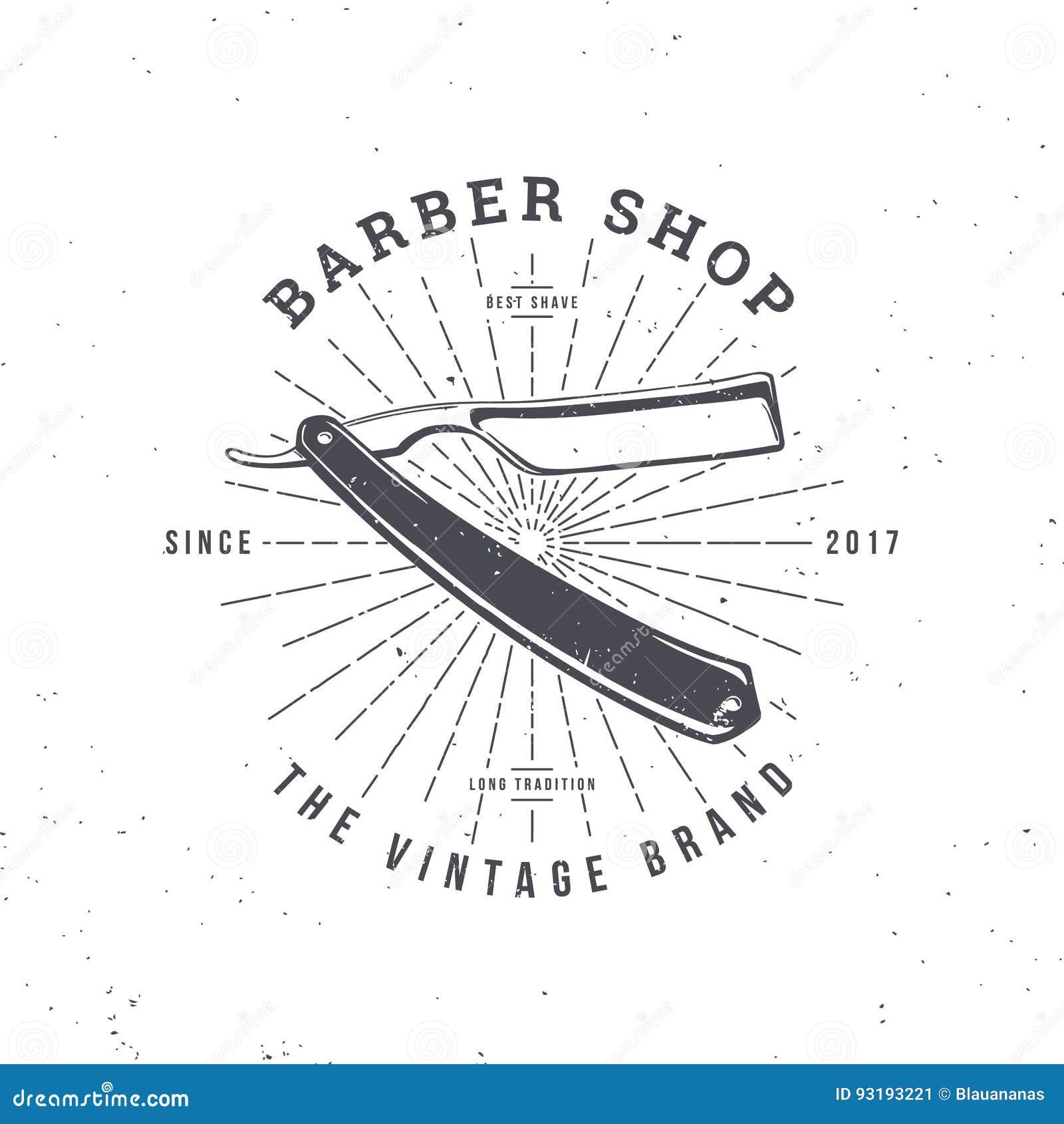 Maquinilla de afeitar de la peluquería de caballeros