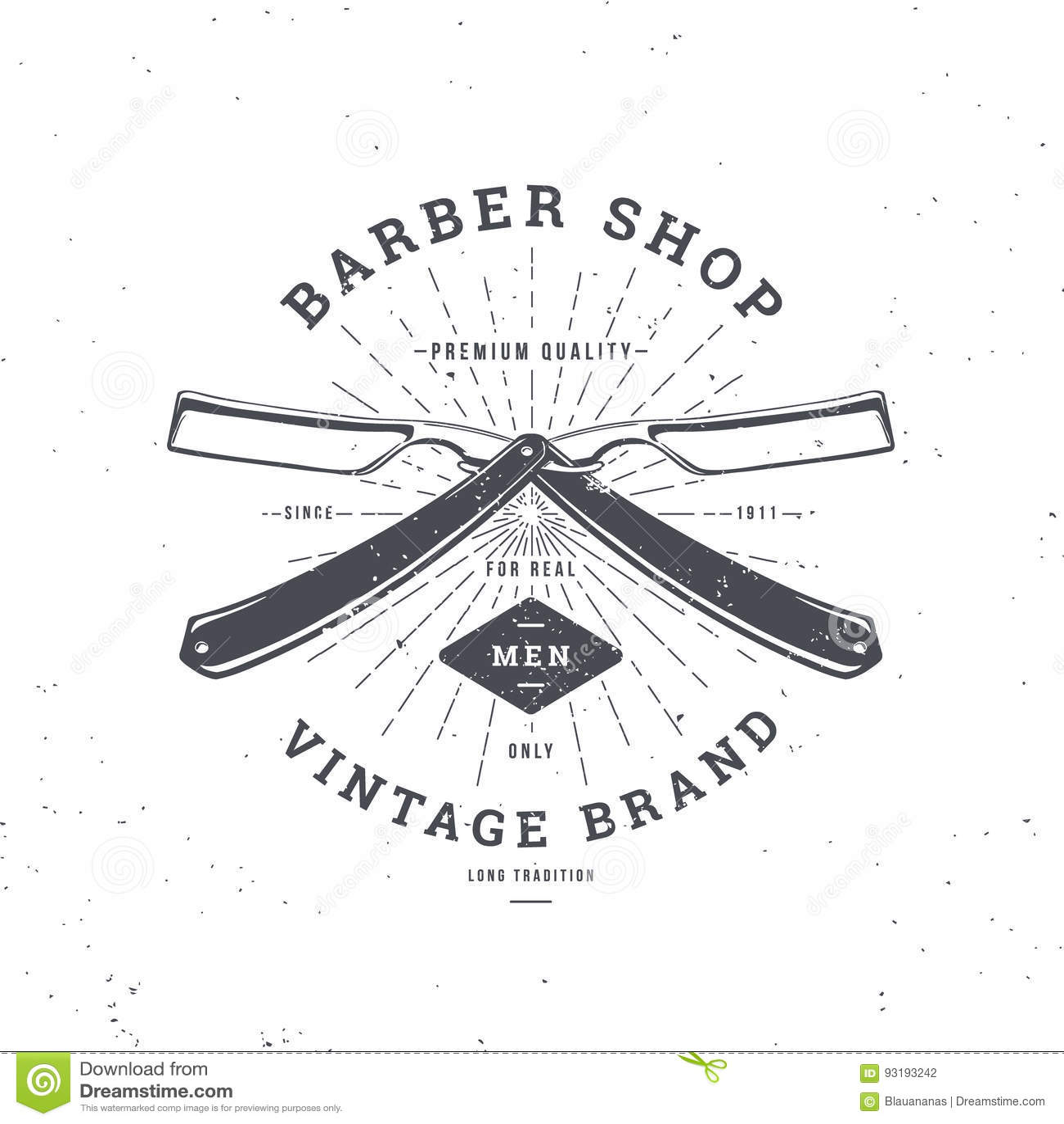 Maquinilla de afeitar doble de la peluquería de caballeros