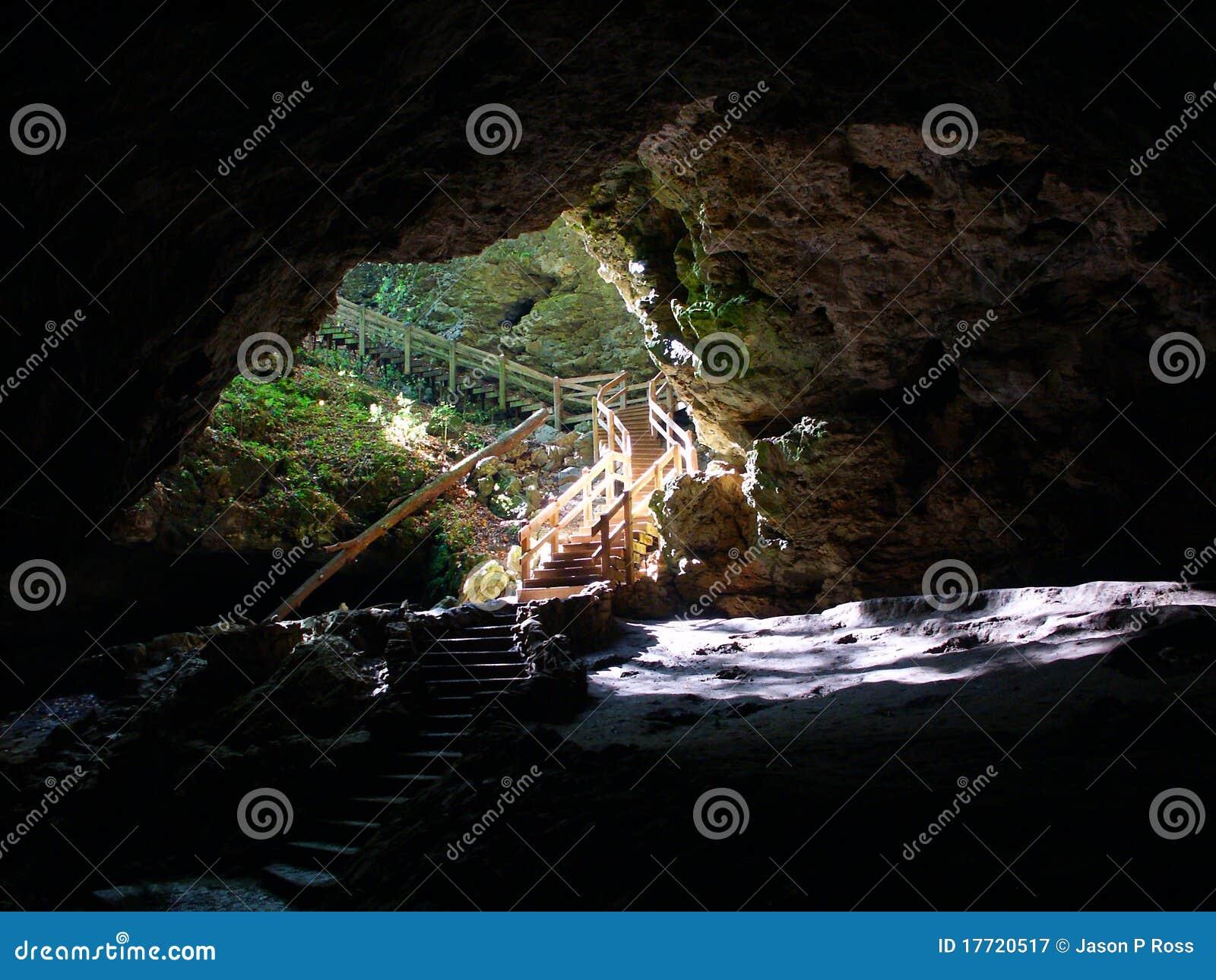 Maquoketa Caves State Park - Iowa Stock Image - Image of opening ...