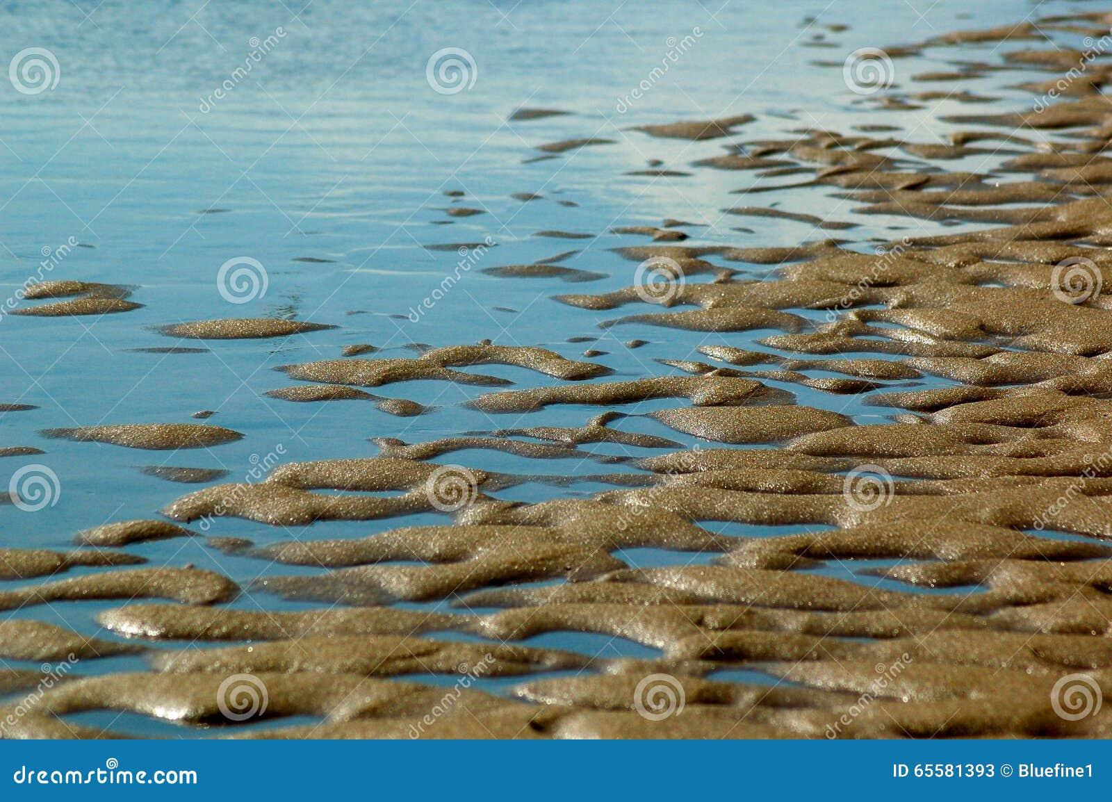 Maré baixa na praia