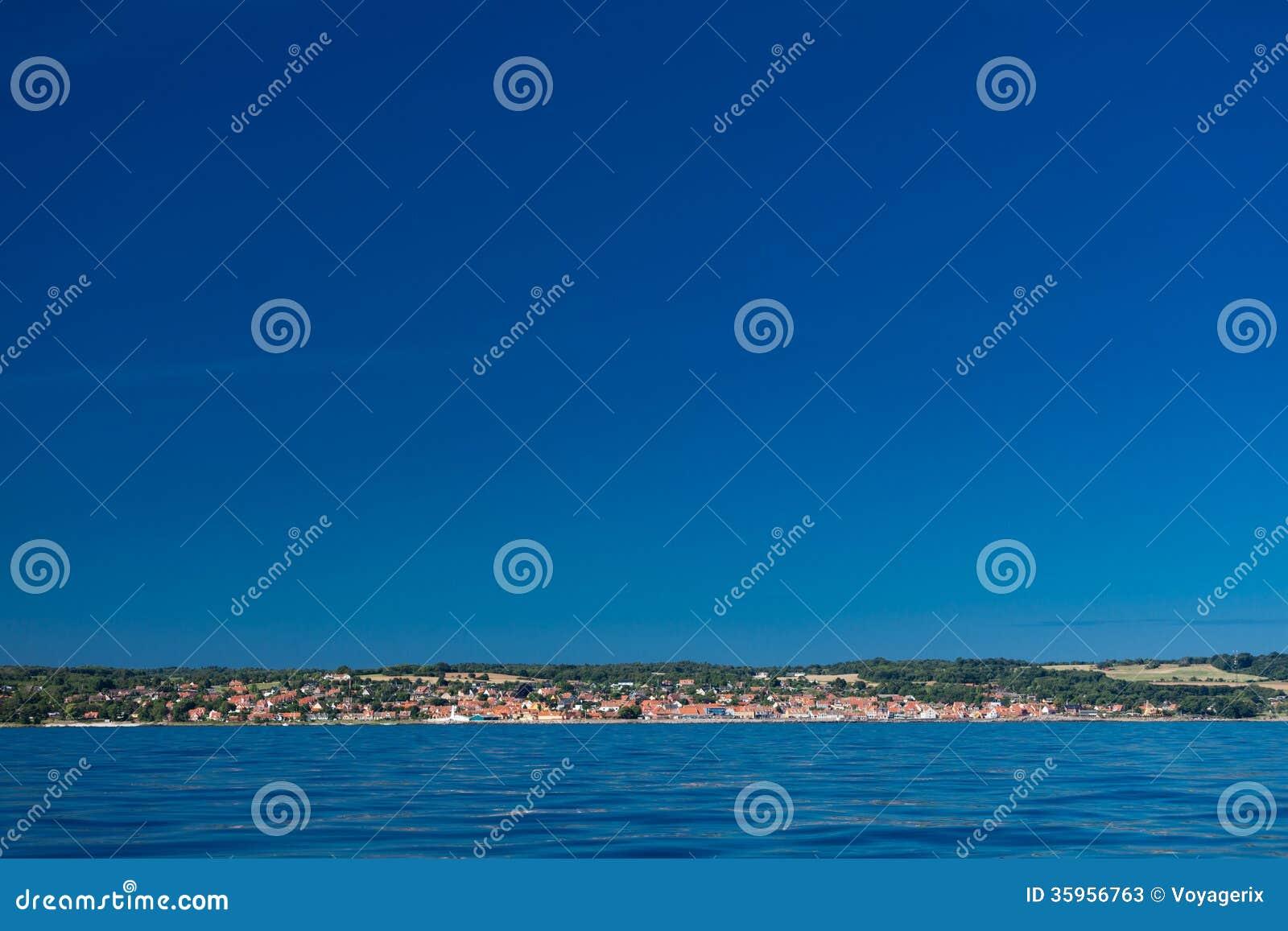 Mar Báltico Dinamarca Escandinavia Europa de Christiansoe Bornholm del fuerte de la isla