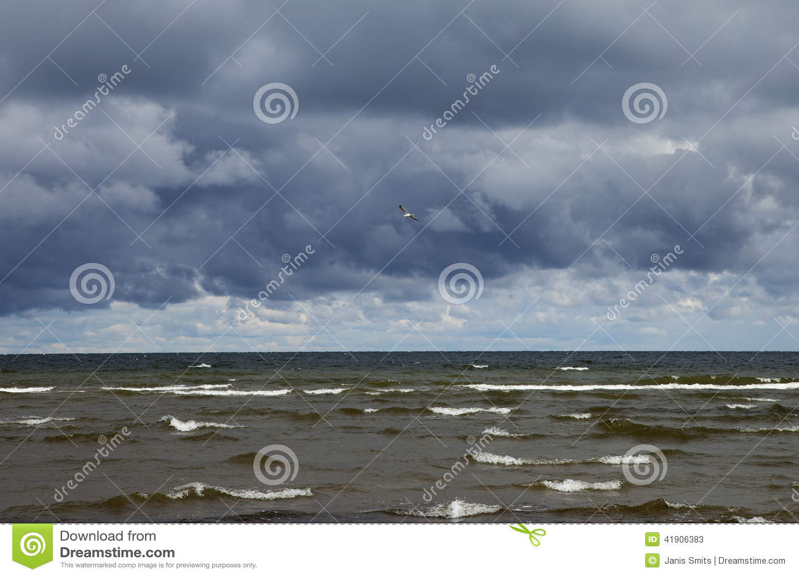 Mar Báltico oscuro