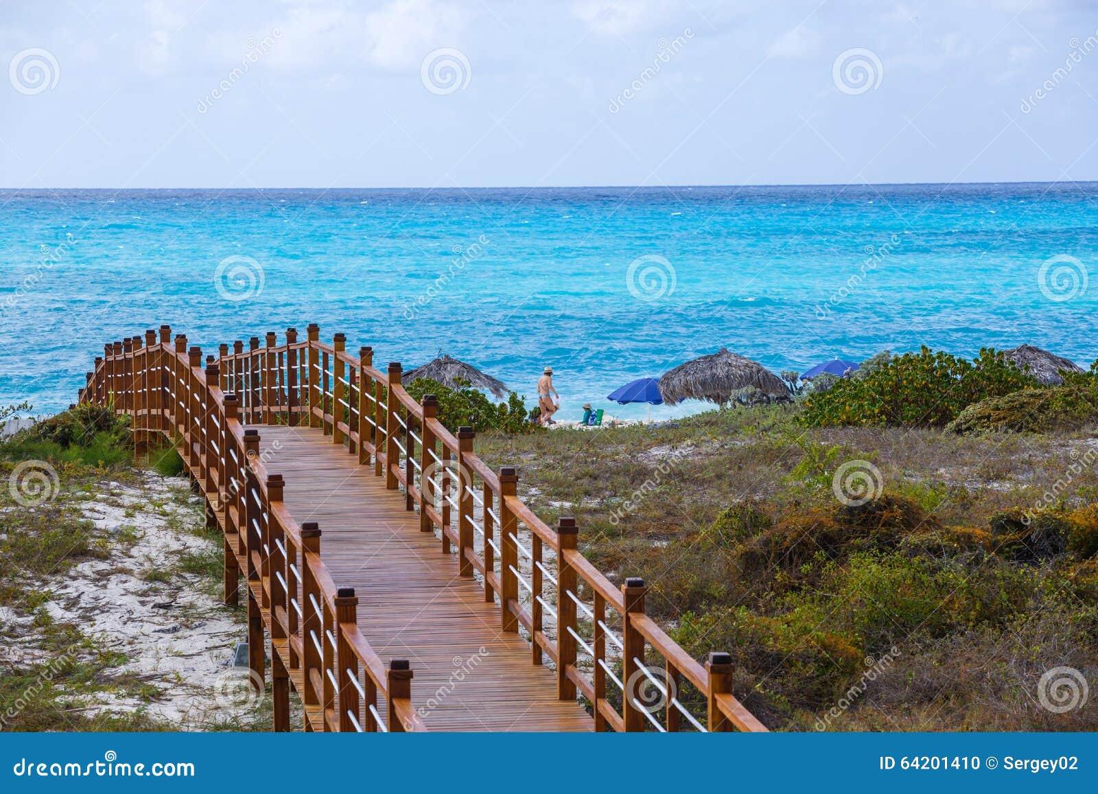 Mar enselvado del puente y de la turquesa