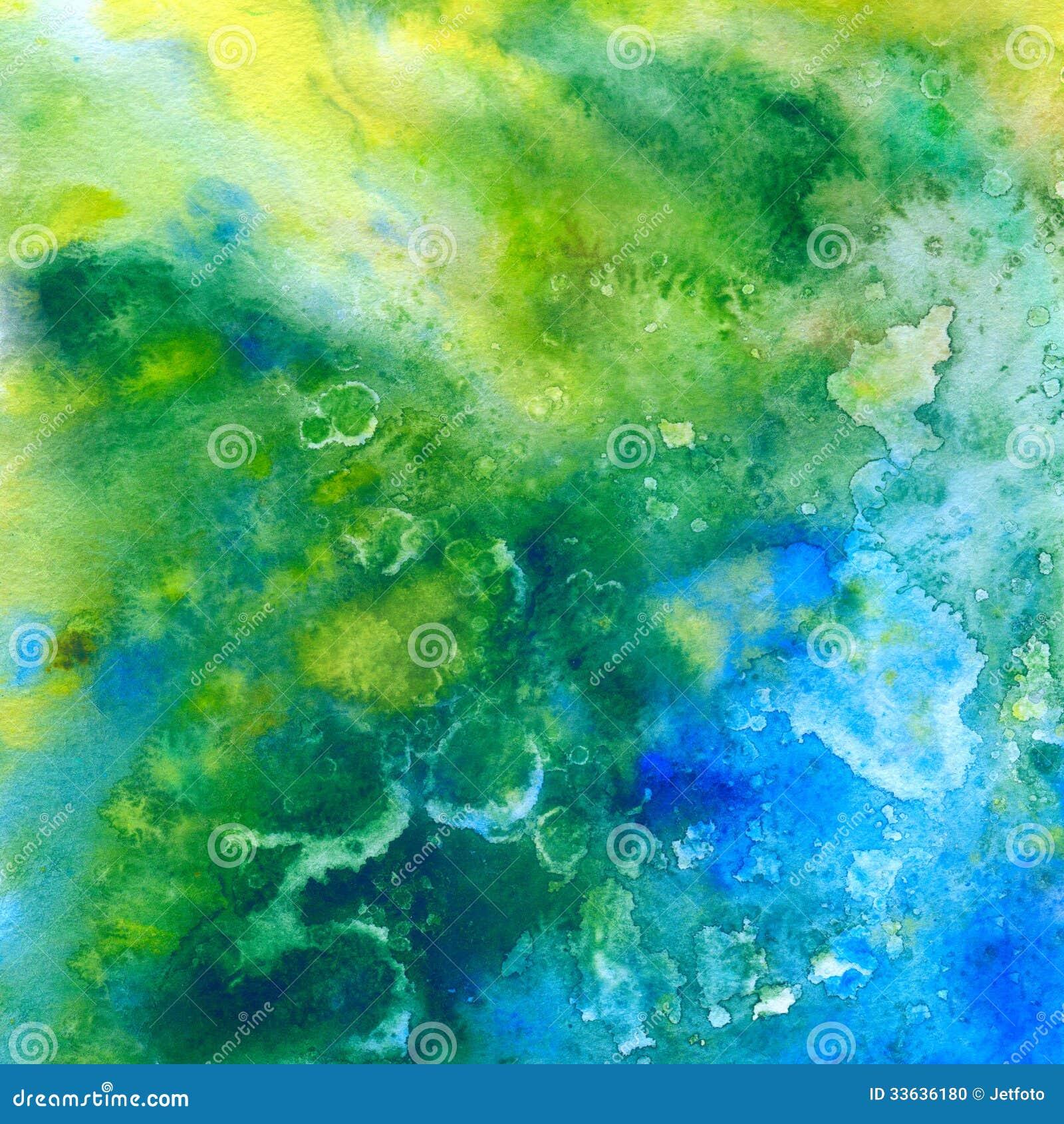 Mar Tropico Fundo Abstrato Da Aquarela Ilustra 231 227 O Stock