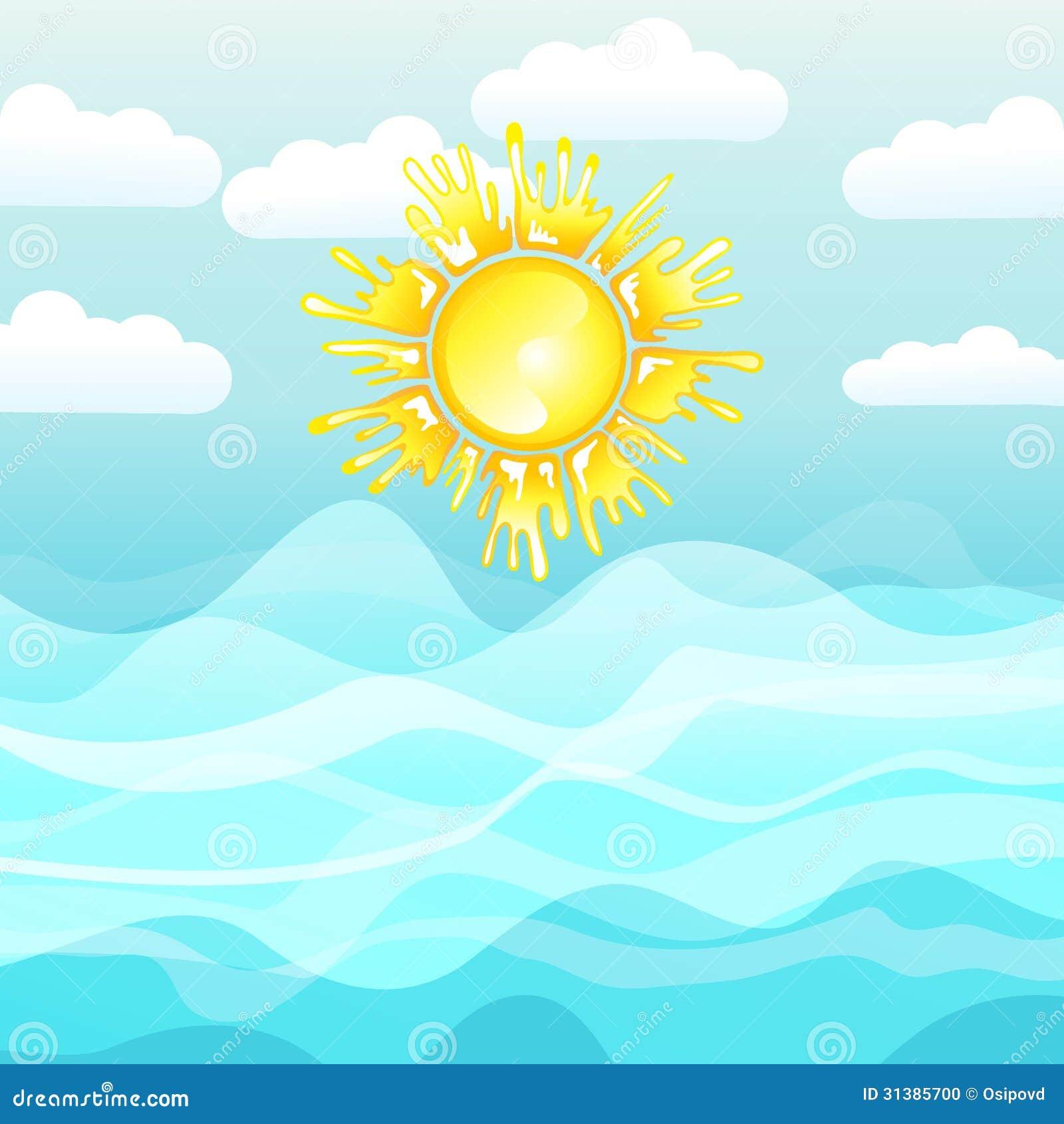 Mar y sol fondo del verano foto de archivo imagen 31385700 for Fondo del sol