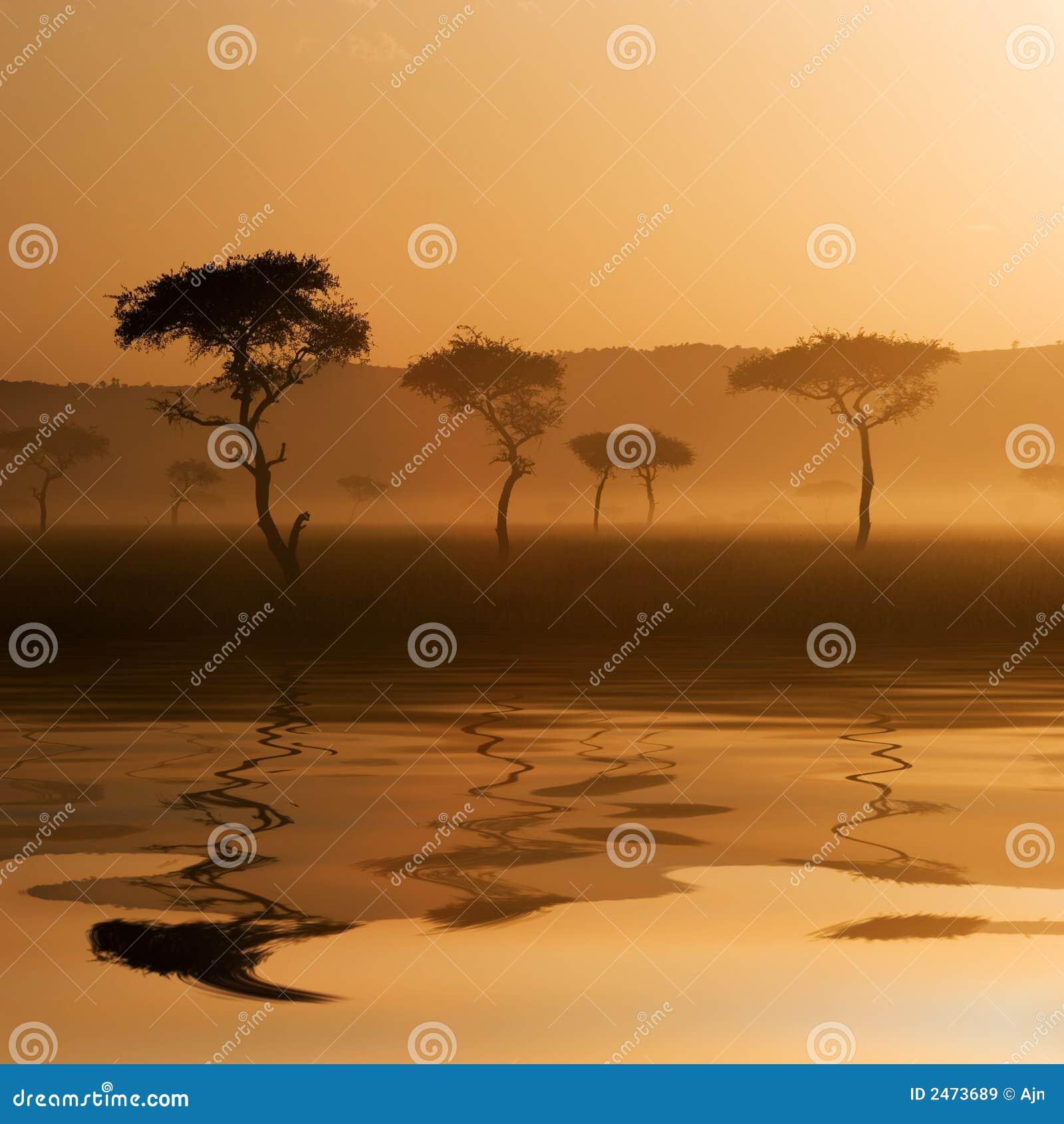 Mara ηλιοβασίλεμα massai