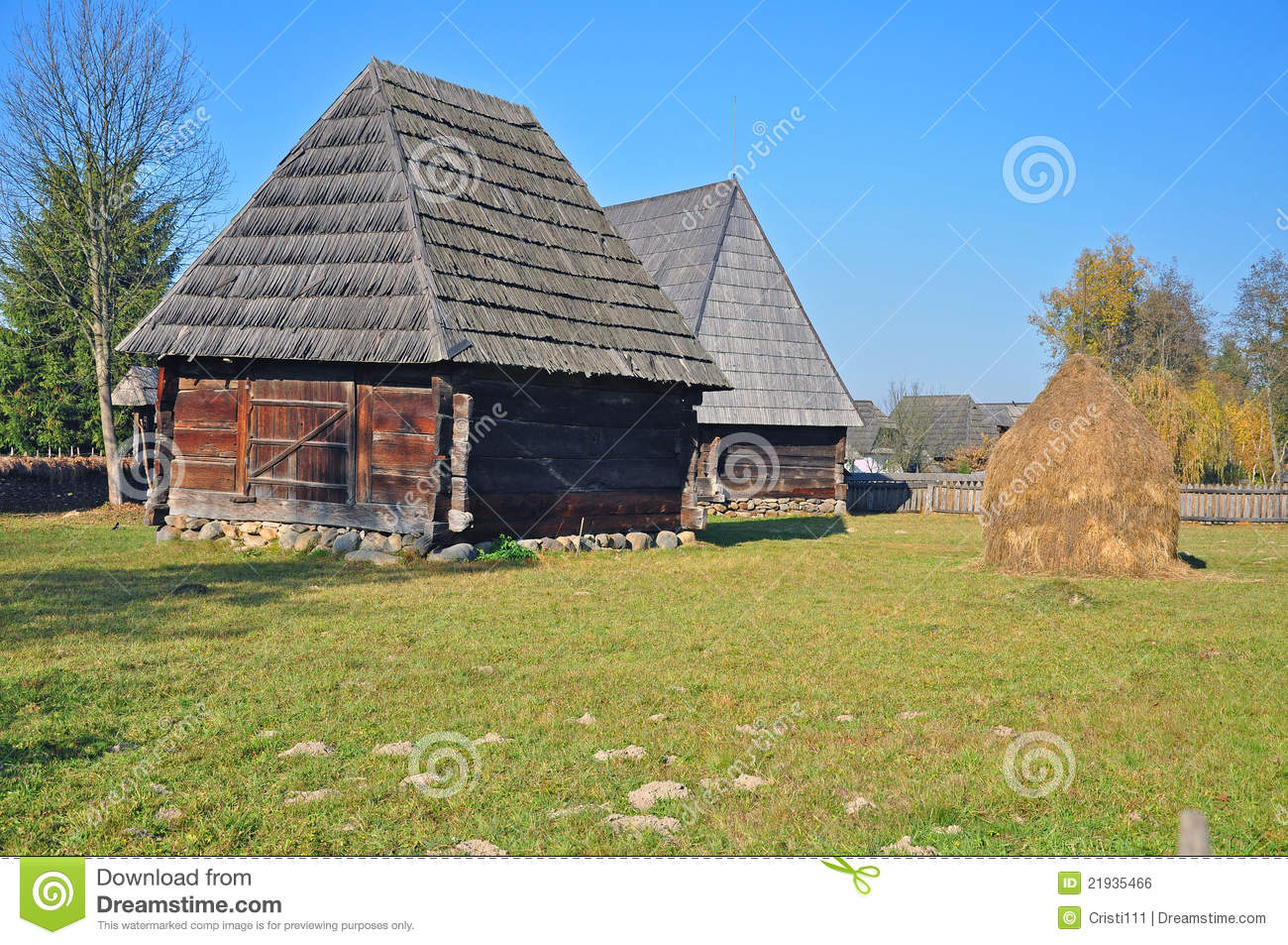 Maramures Old Houses Royalty Free Stock Image Image 21935466