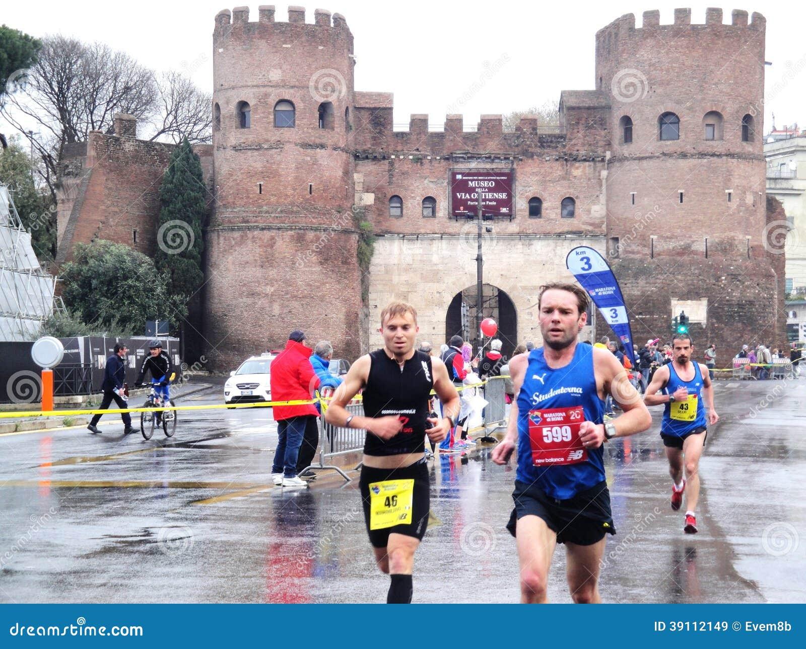 Mararathon van Rome, 23 Th Maart 2014, Italië