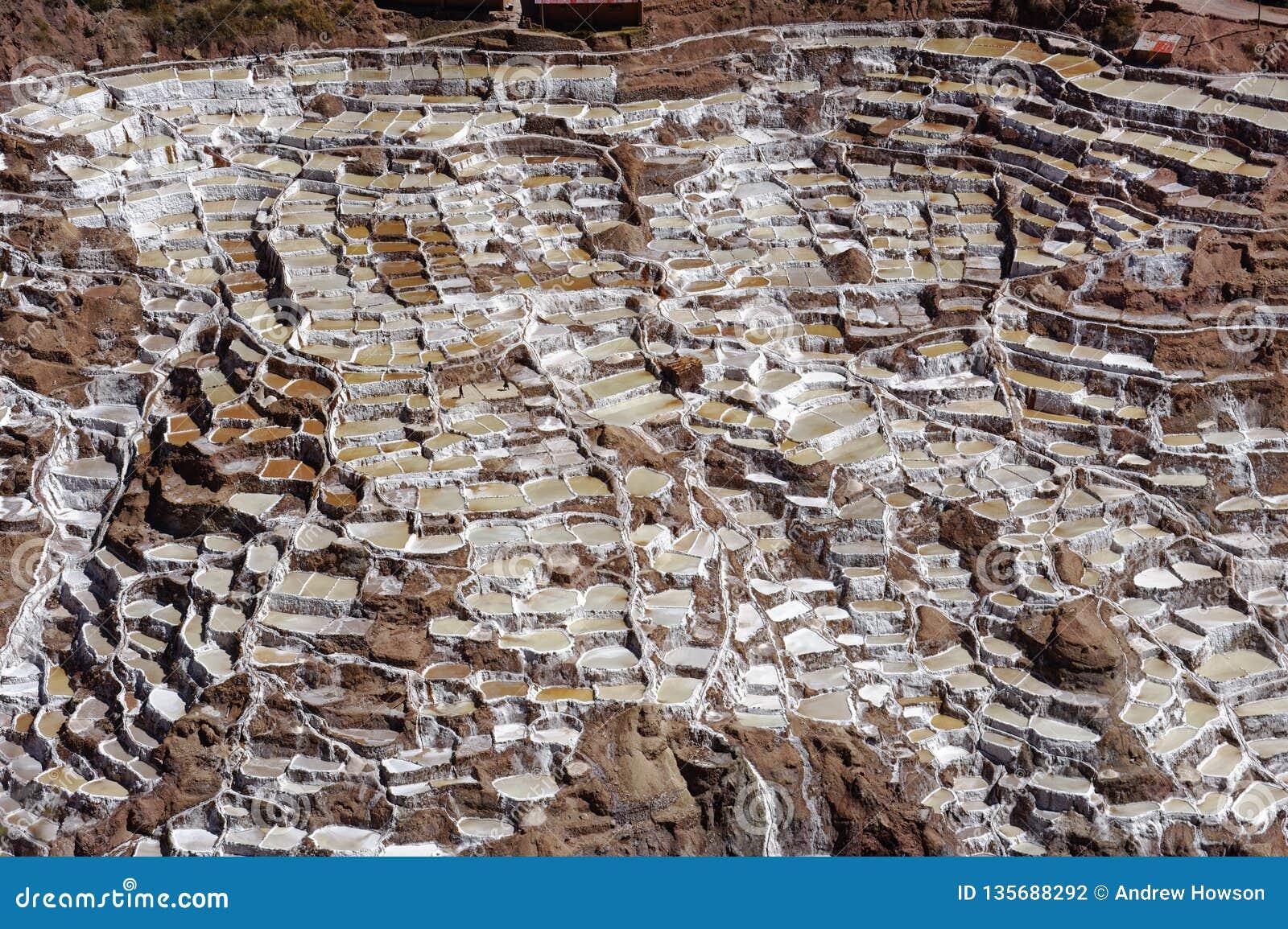 Maras, Peru: vor Inkasalzebenen Salzreiseinka