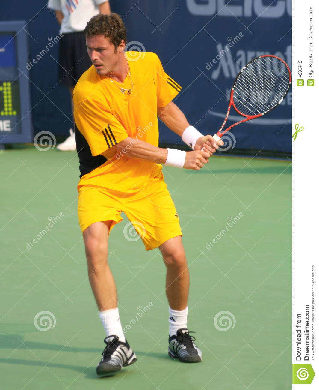 Marat Safin Tennis Backhand Editorial graphy Image