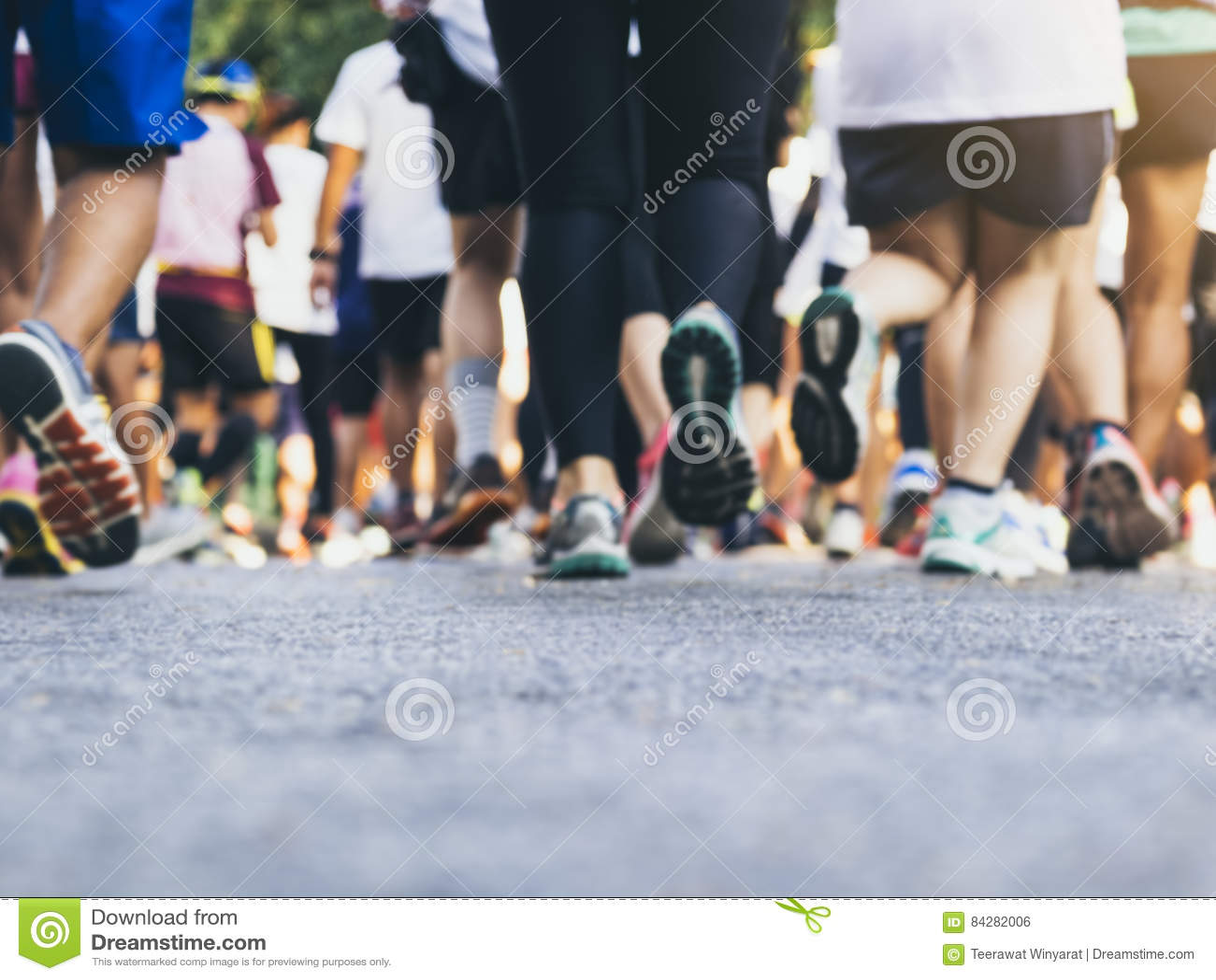 Marathon runners Group People running Outdoor Sport Event