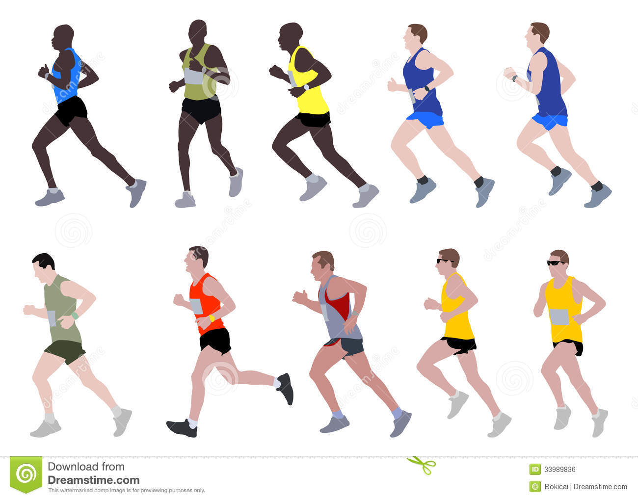 Marathon runners stock vector. Illustration of endurance ...