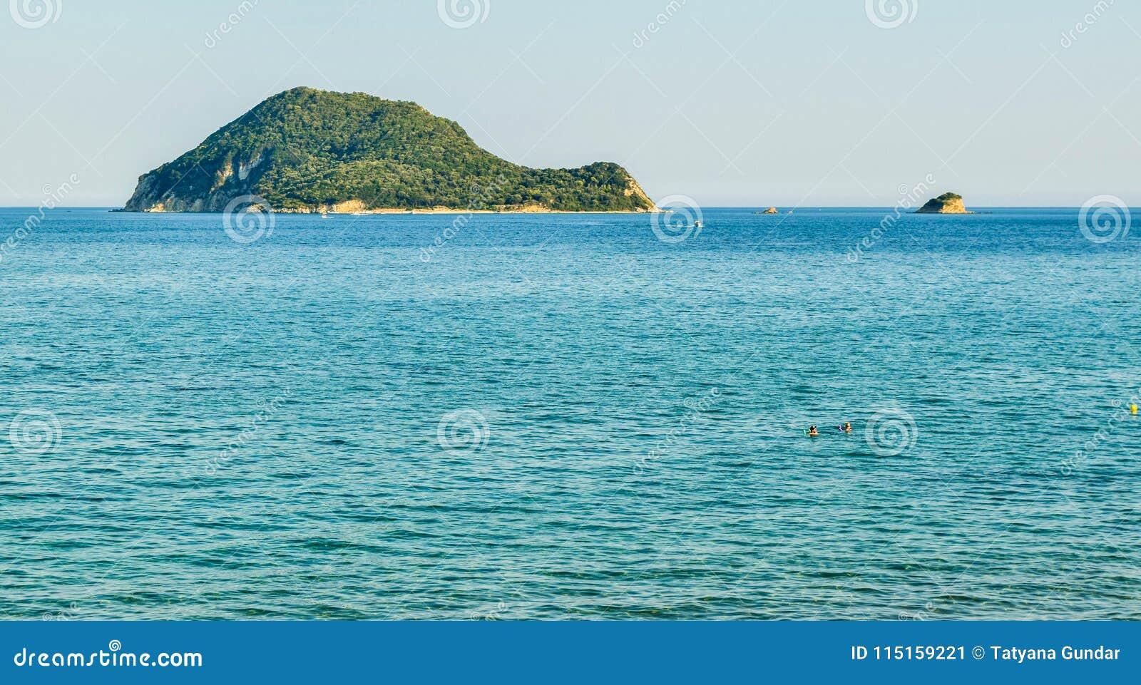 Marathonisi island, Greece.
