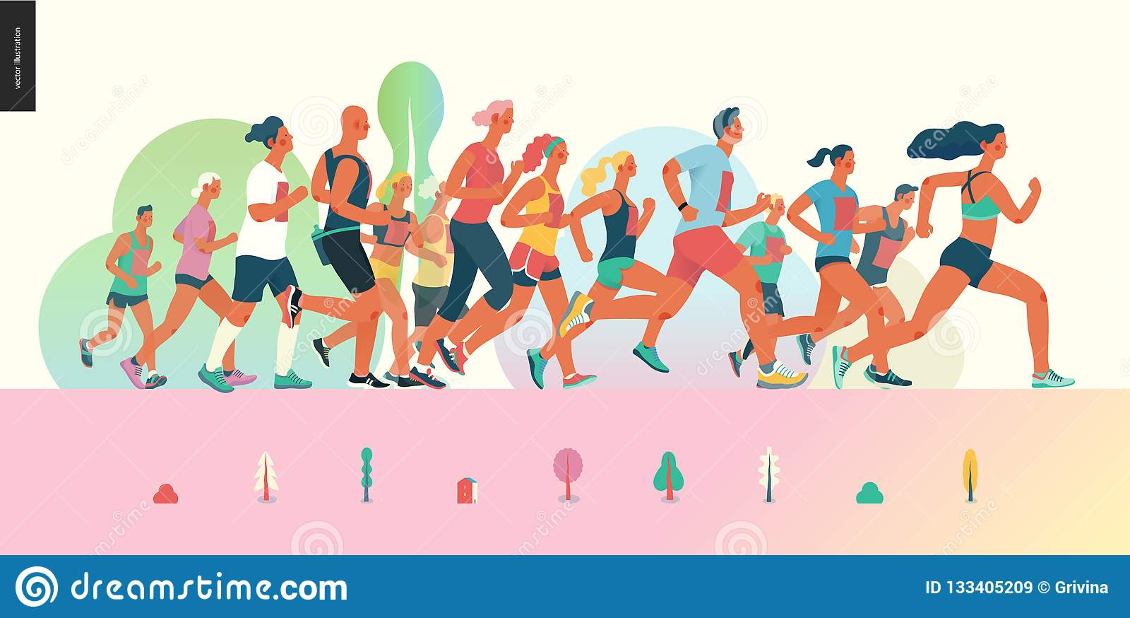 Maratońska biegowa grupa