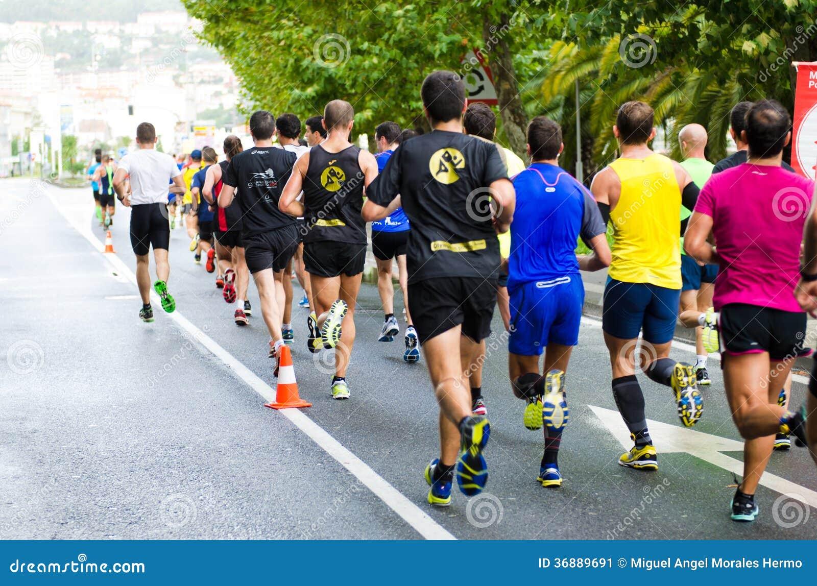 Download Maratona urbana fotografia editoriale. Immagine di salute - 36889691