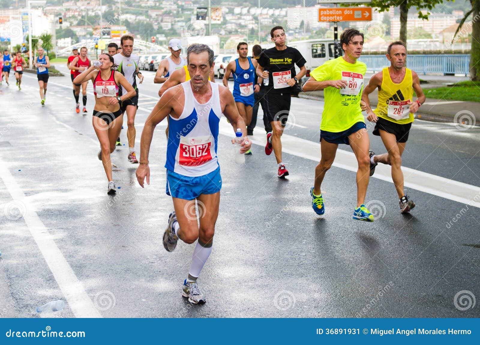 Download Maratona urbana fotografia editoriale. Immagine di maratona - 36891931