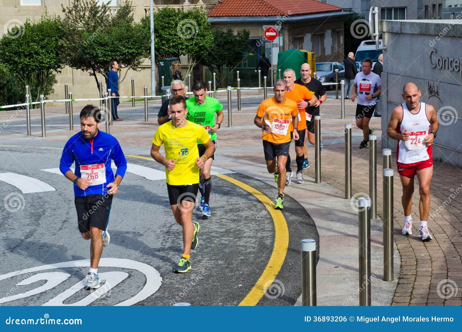 Download Maratona urbana fotografia editoriale. Immagine di città - 36893206