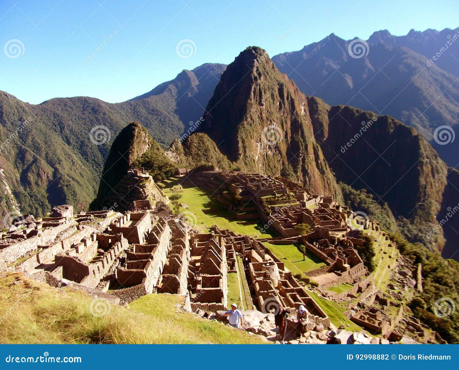 Maravilha Ámérica do Sul do mundo das ruínas de Machu Picchu Peru Inca