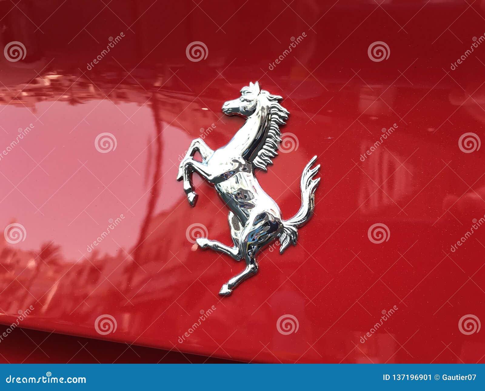 Horse Logo Of Ferrari Red Car Editorial Photo Image Of Sail
