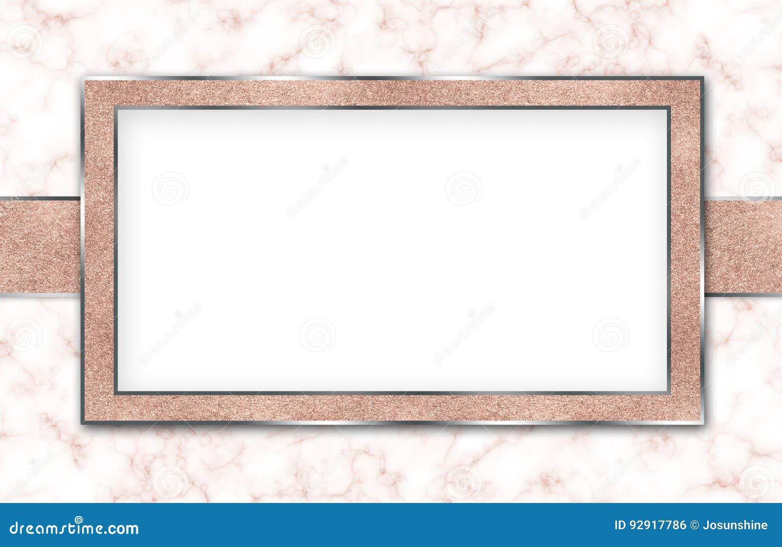 Marble Background Invitation Rose Gold White Stock