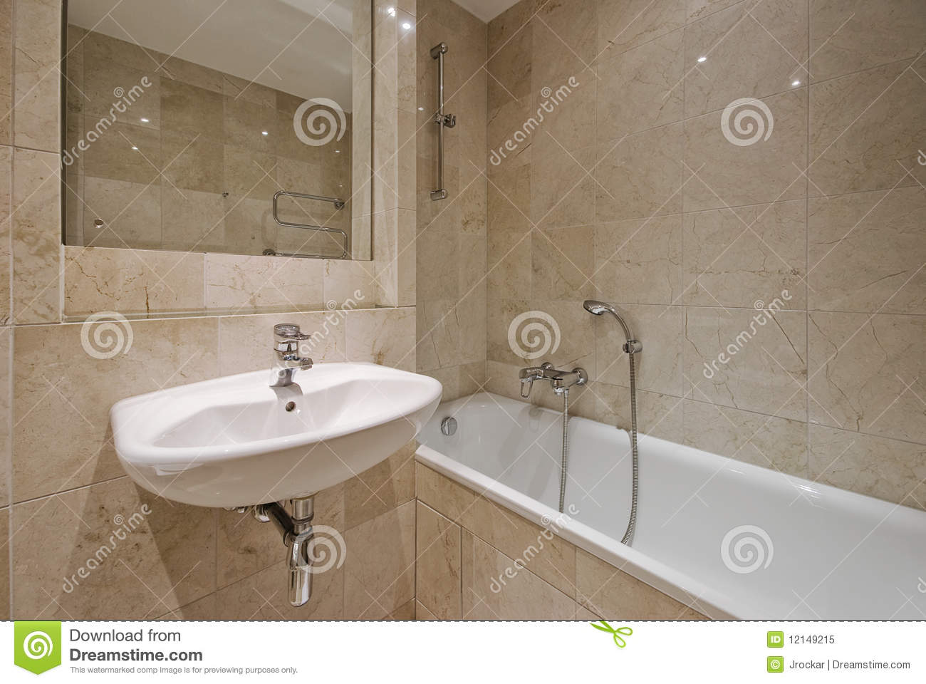 Marble Bathroom Stock Image Image Of Appliance Design 12149215