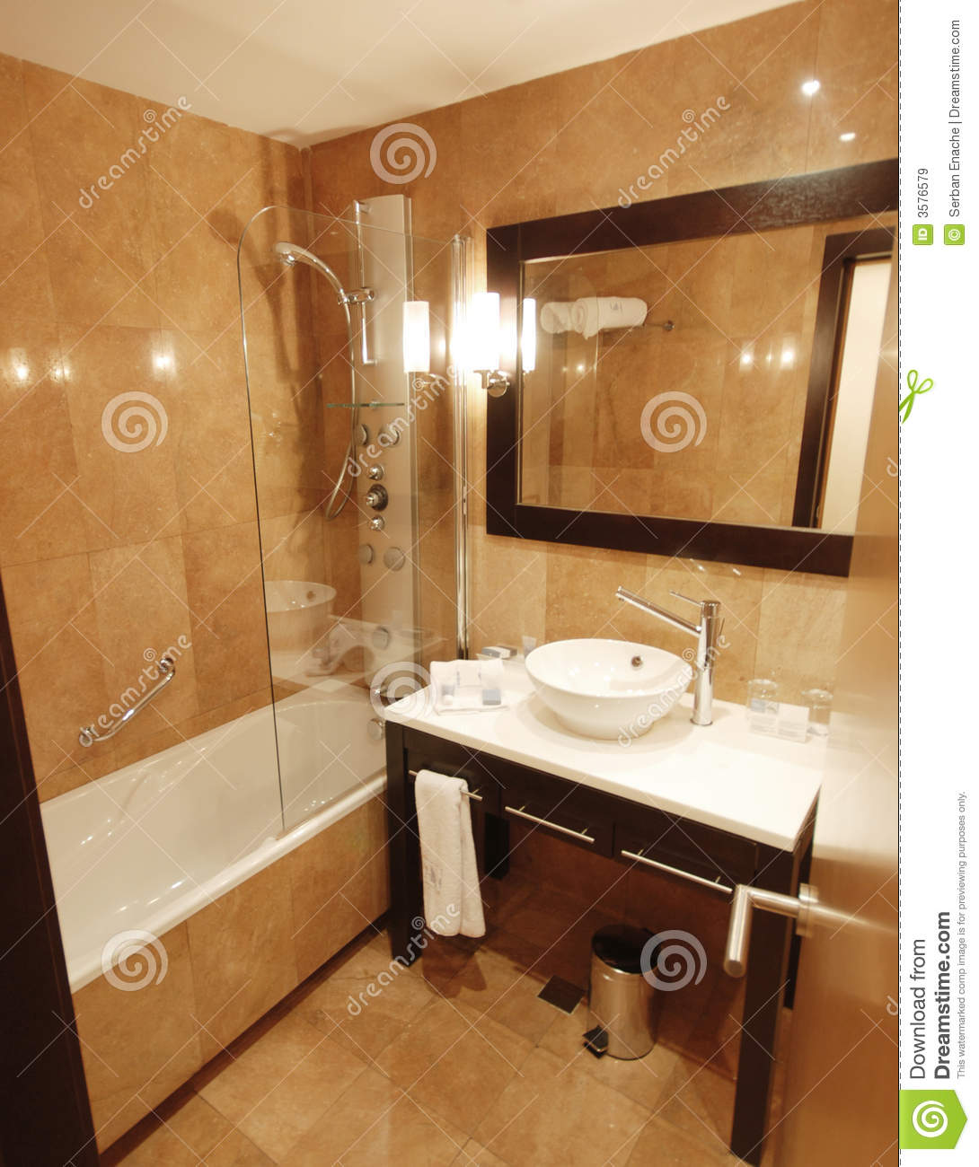 Marble bathroom stock image image of luxurious gleaming for Marble bathroom bin