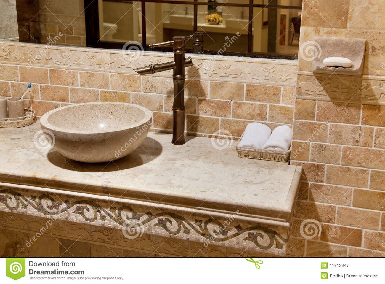 Superior Bathroom Close Marble Sink ...