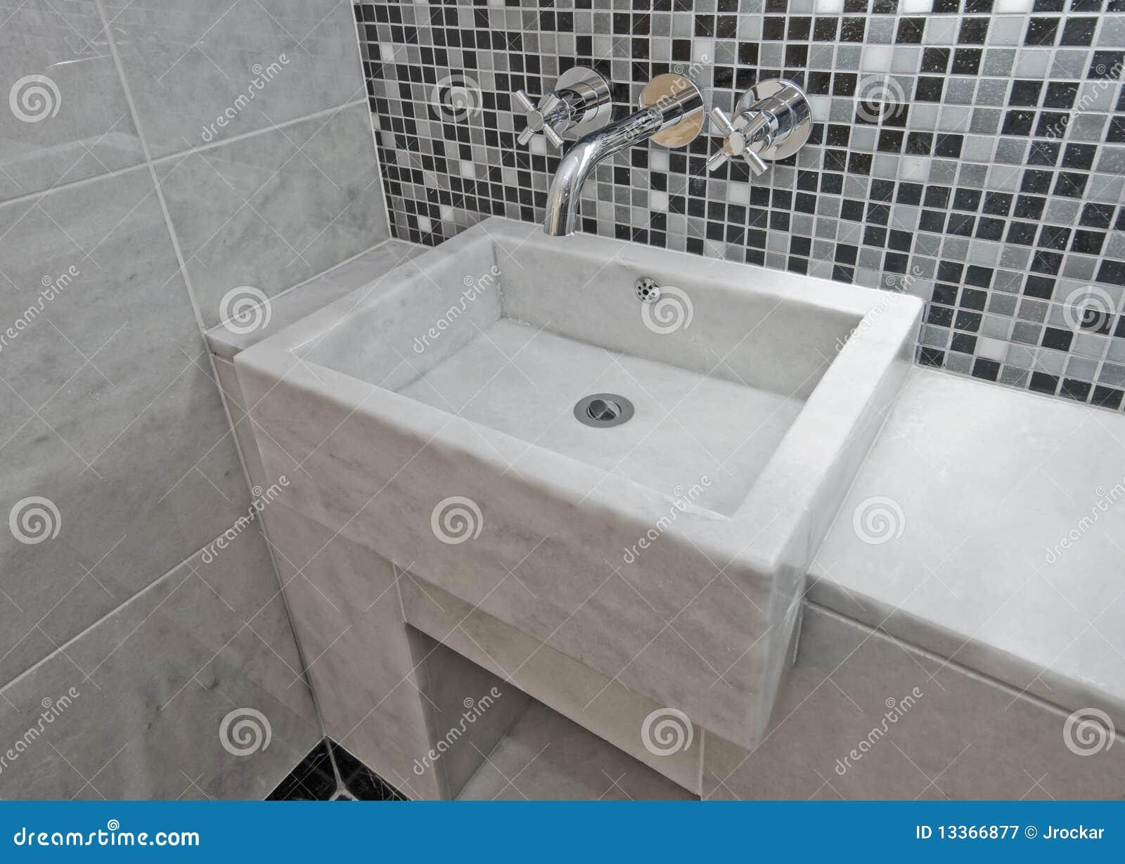 Marble Bathroom Sink Stock Image Image Of Luxury Gray 13366877