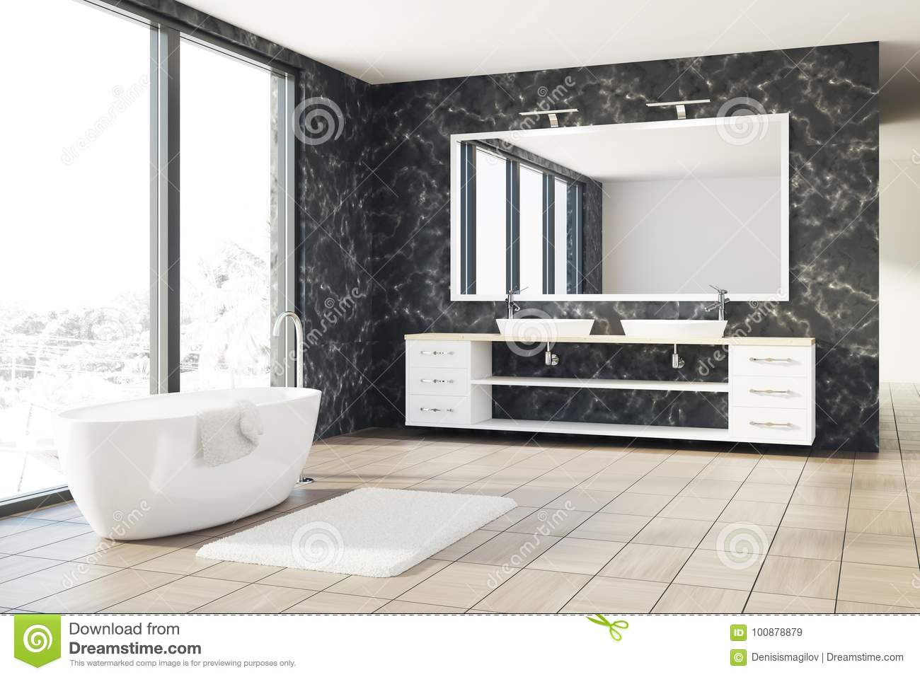 Astounding Marble Bathroom White Tub Sink Stock Illustration Download Free Architecture Designs Lukepmadebymaigaardcom