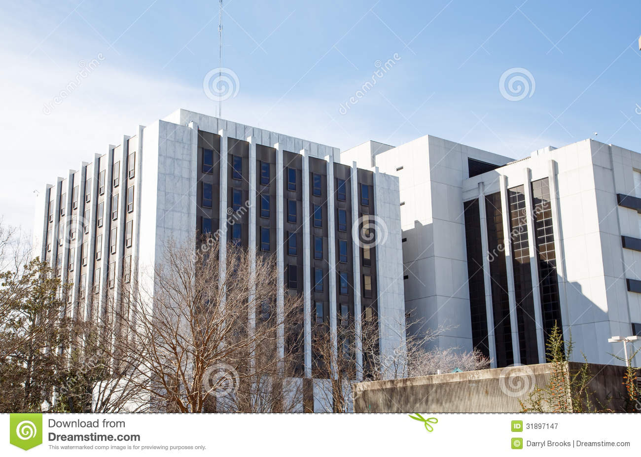 Marble And Black Glass Building Stock Image Image Of