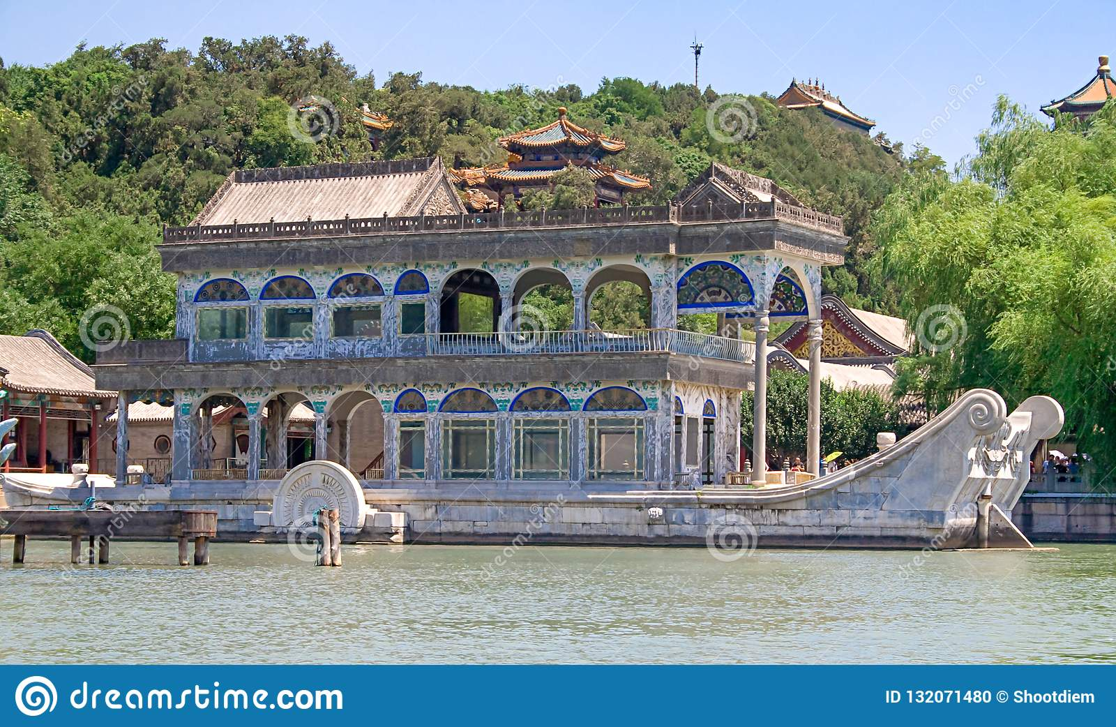 Asia Carrera Marble marble boat also known as the boat of purity and ease in
