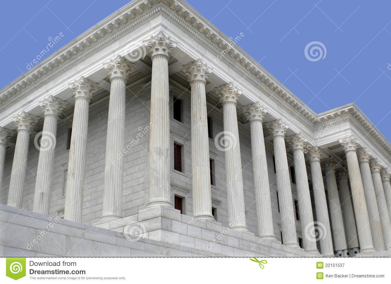 Building A House On Pillars : Marble building with pillars stock image