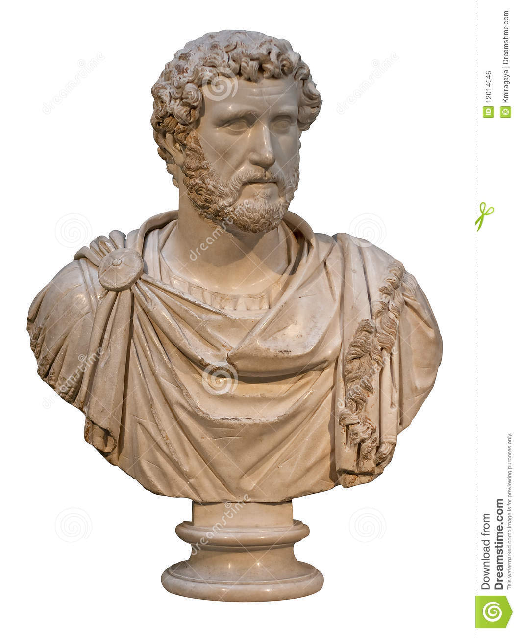 Marble Bust Of The Roman Emperor Antoninus Pius Royalty Free Stock ...