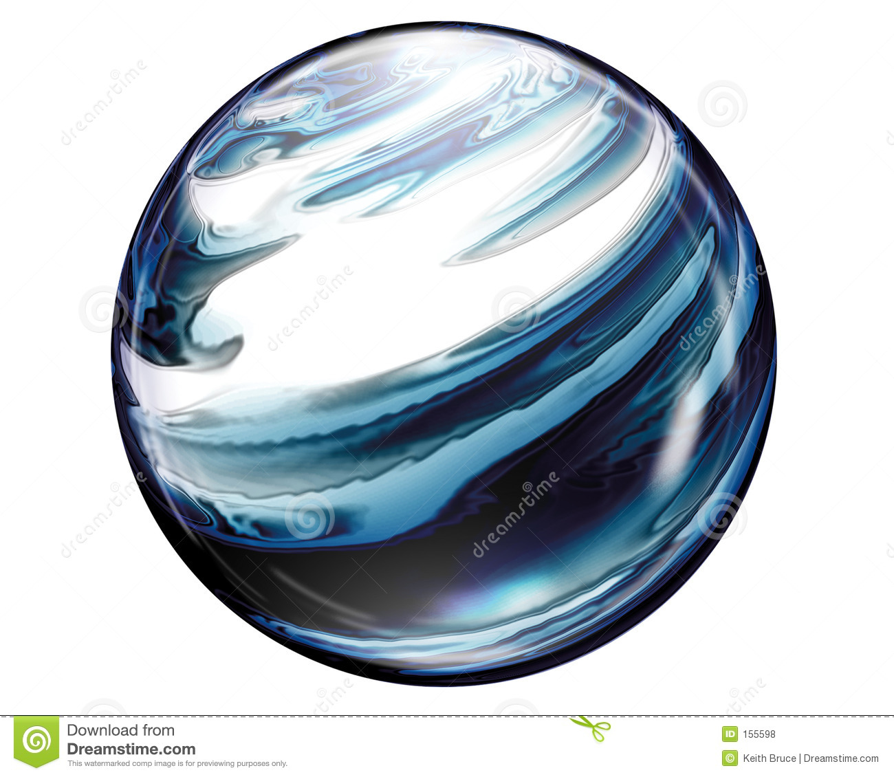 Marble Button Sphere