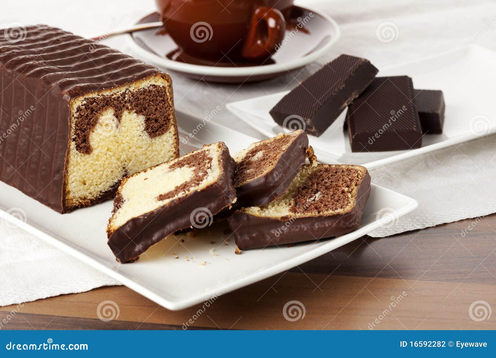 Coffee Chocolate Marble Cake Recipe